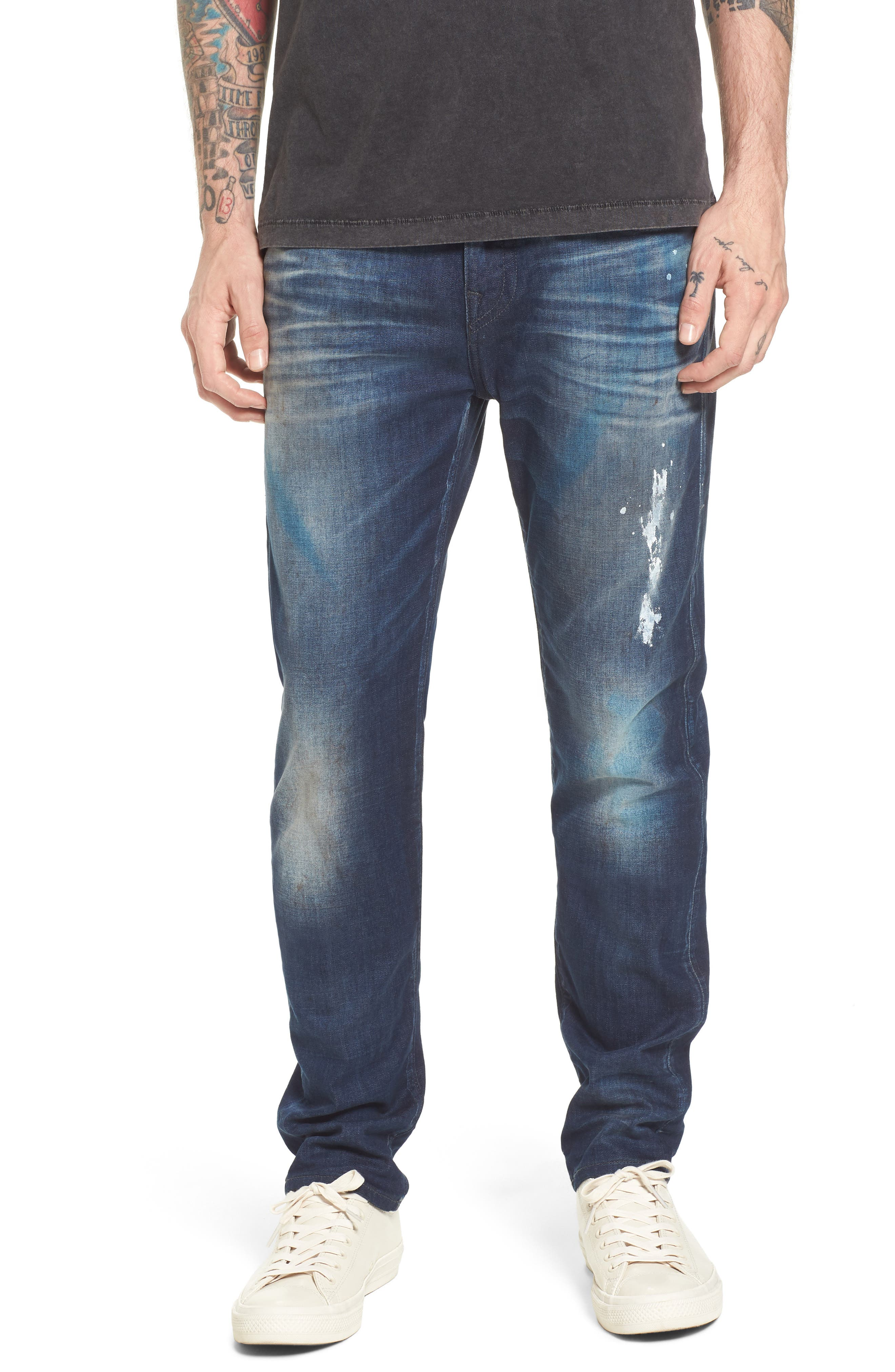 True Religion Brand Jeans Rocco Skinny Fit Jeans (Loft Edge)