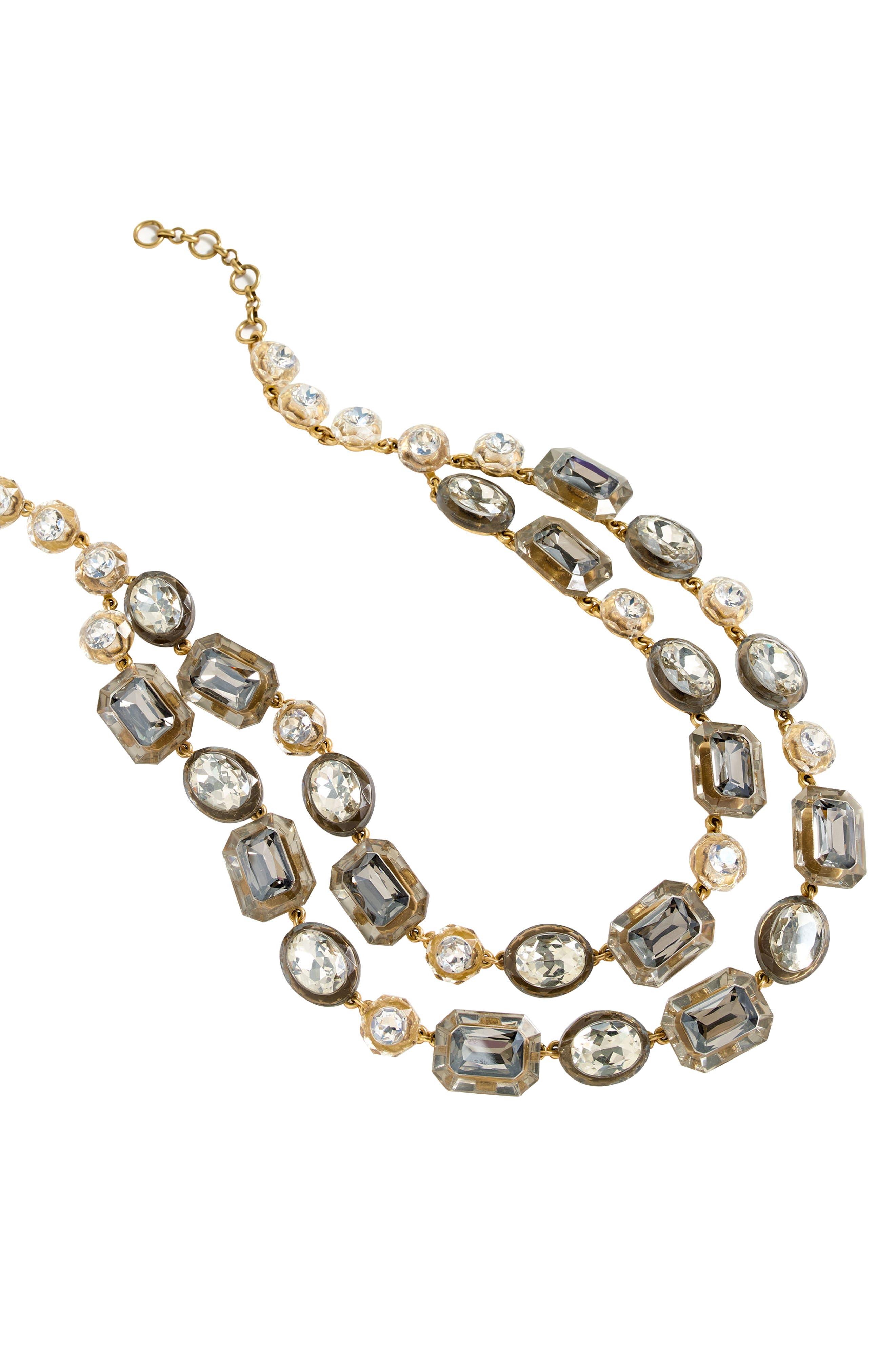 J.Crew Double Strand Stone Necklace
