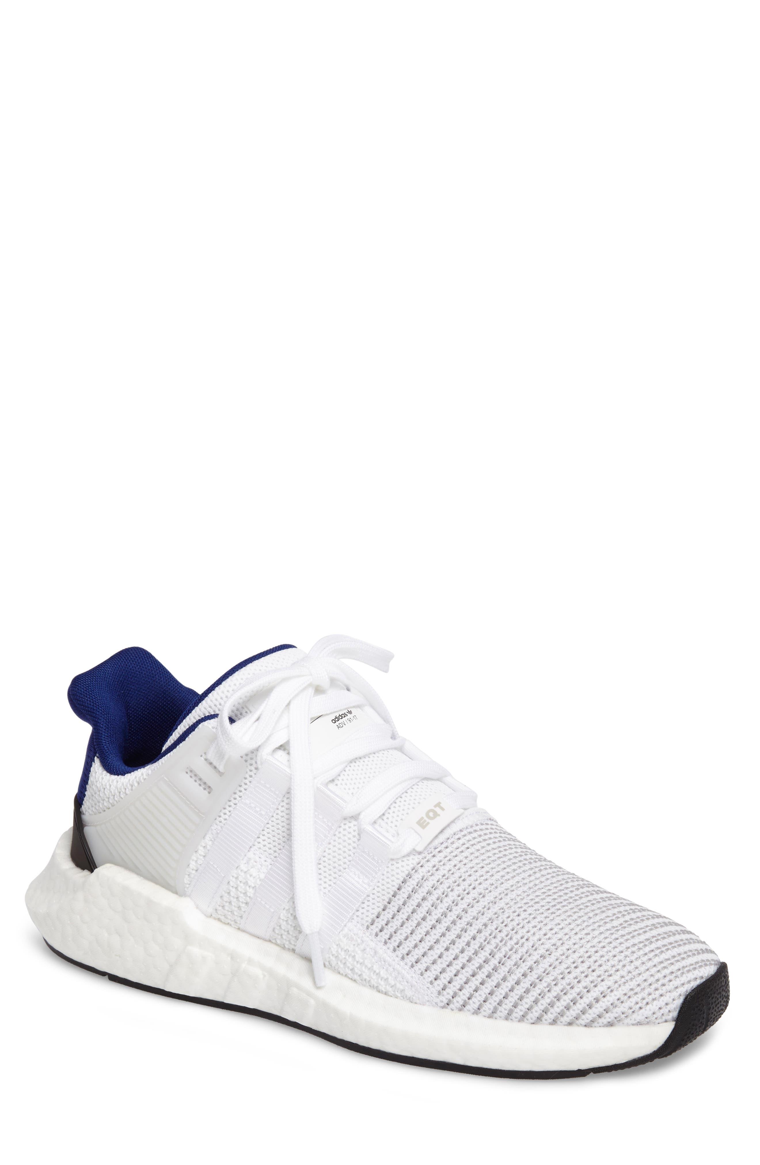 EQT Support 93/17 Sneaker,                         Main,                         color, White/ White/ Core Black