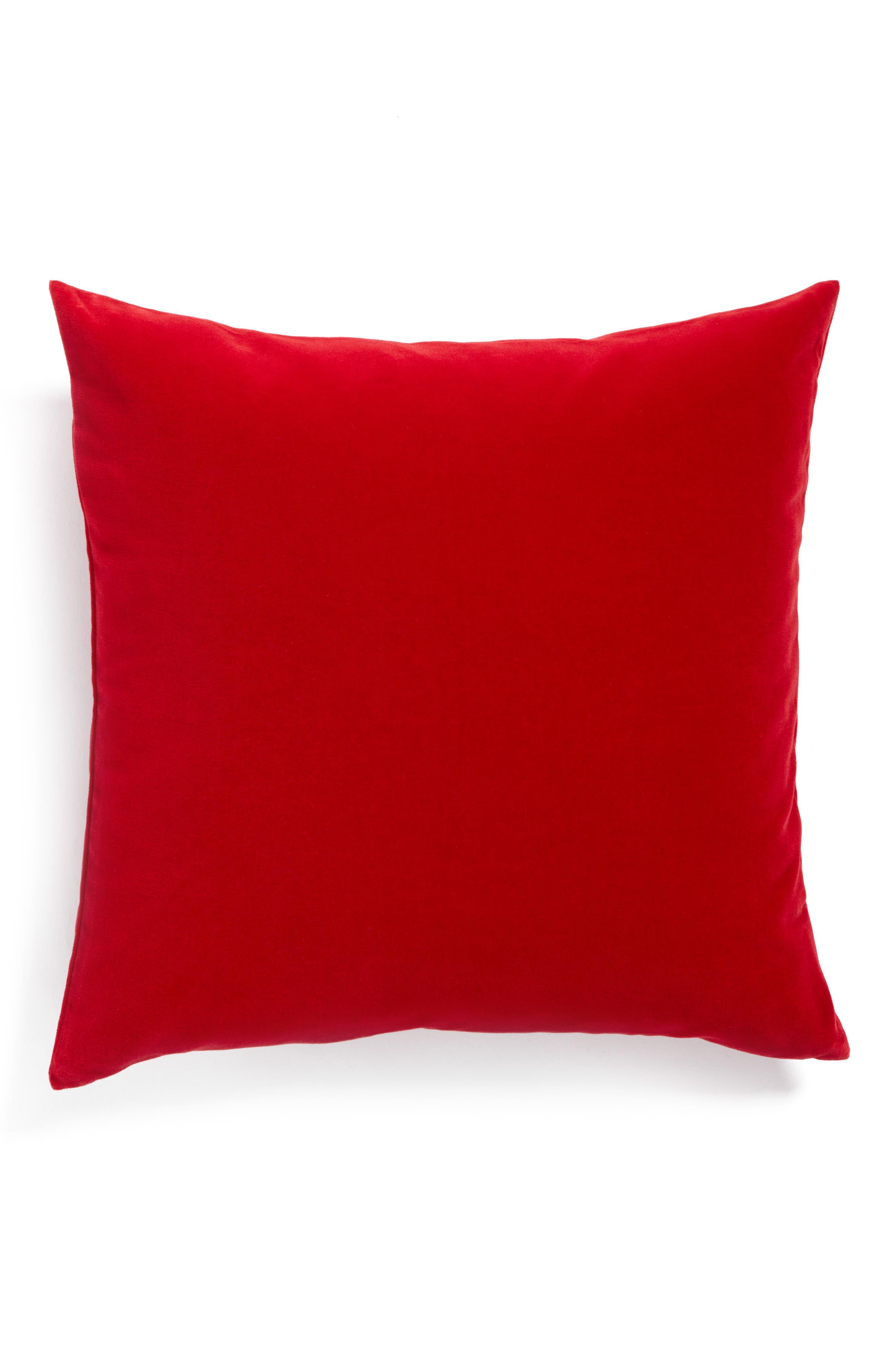 Lucerne Velvet Pillow,                         Main,                         color, Oxblood