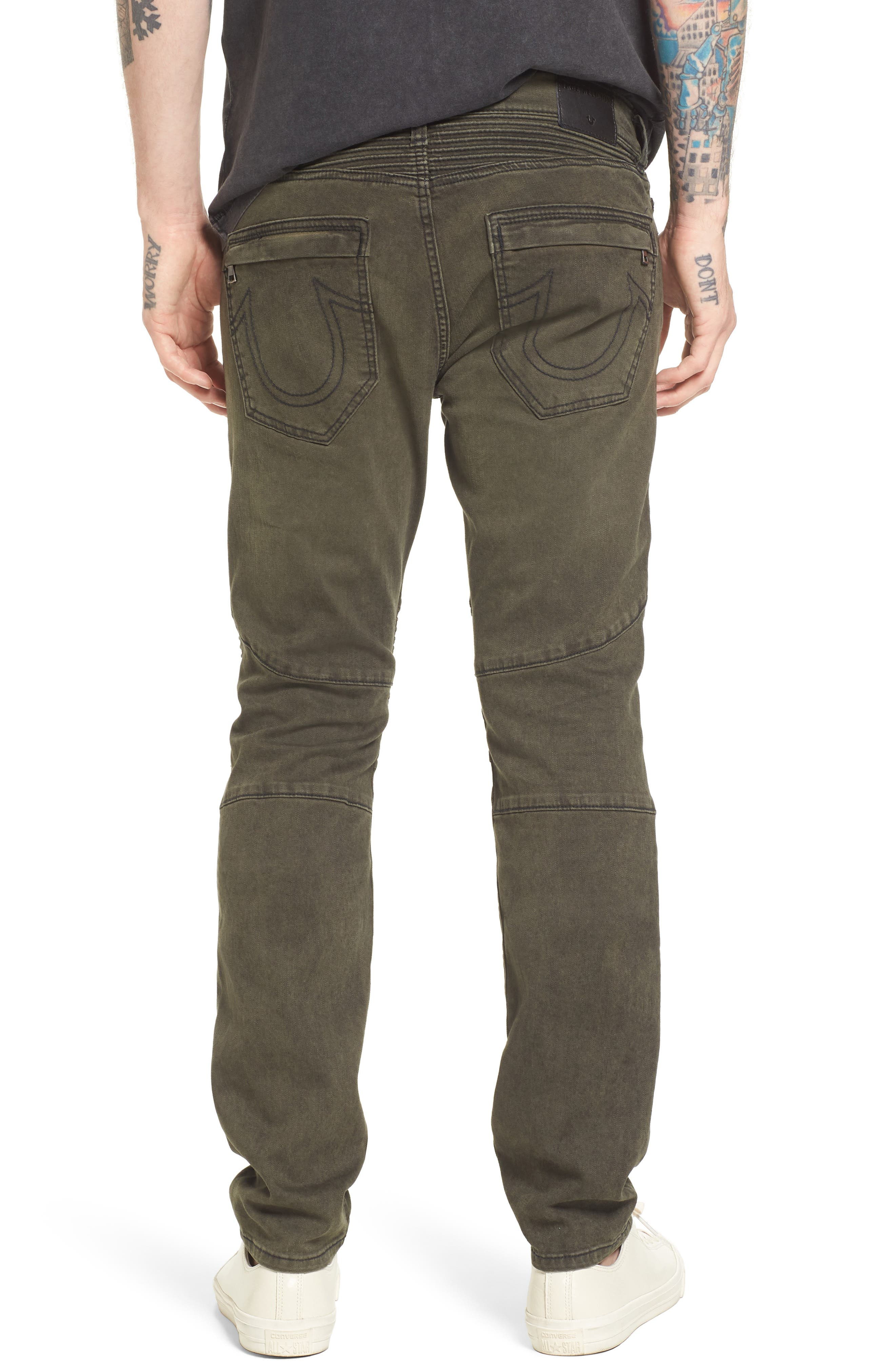 Alternate Image 2  - True Religion Brand Jeans Rocco Skinny Fit Jeans (Olive Coated)