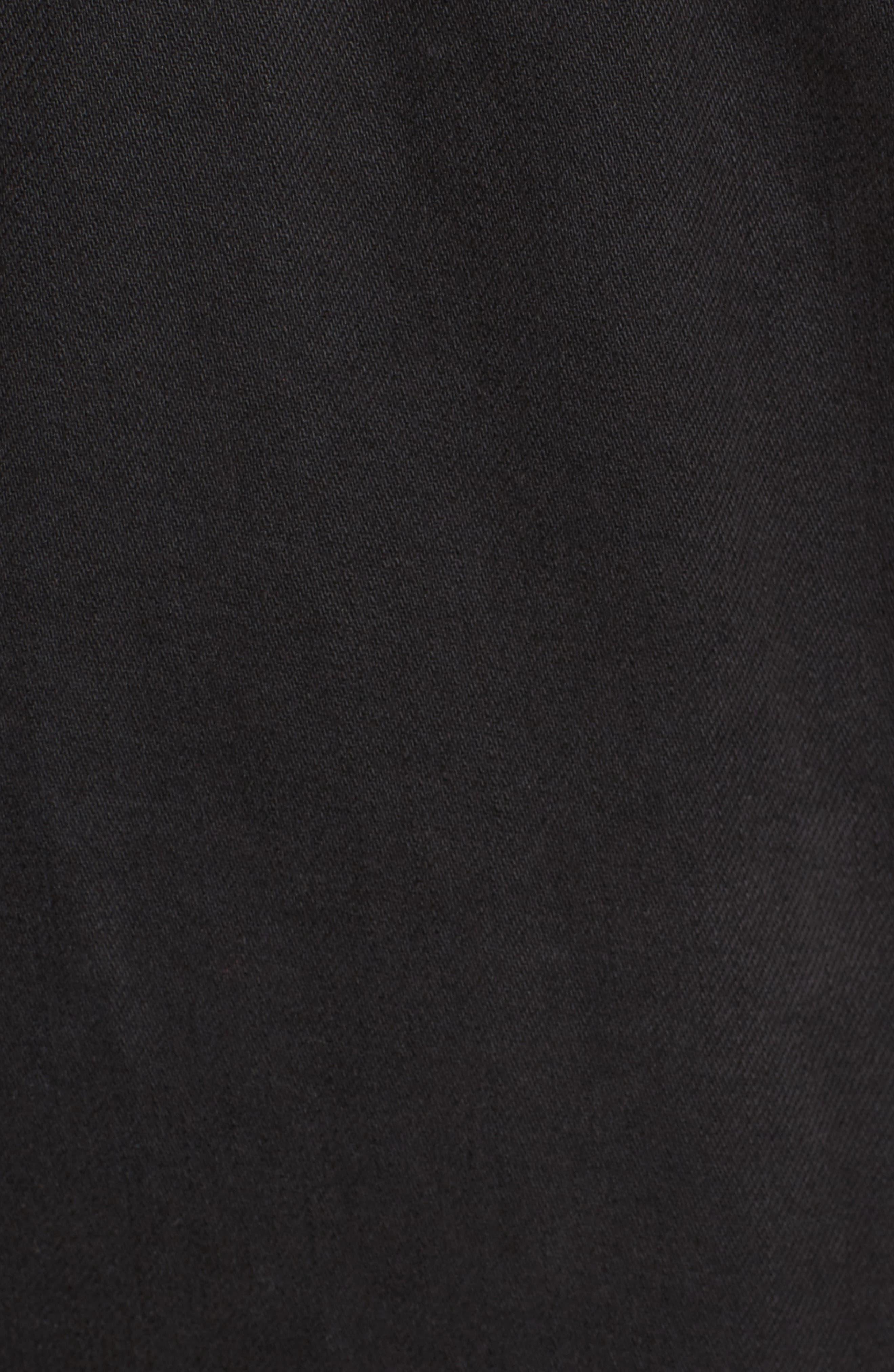 Lace-Up Denim Jacket,                             Alternate thumbnail 5, color,                             Black