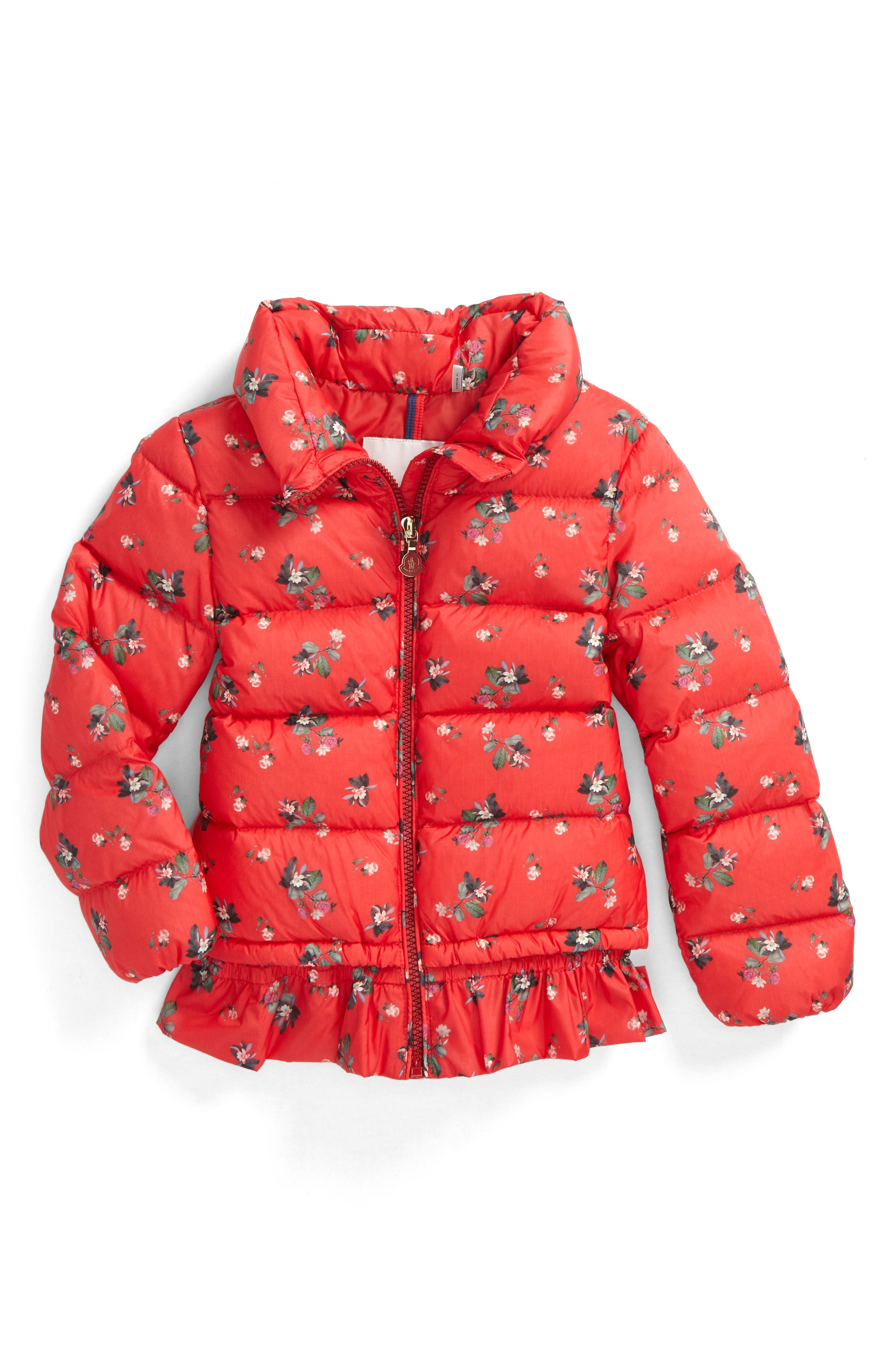 Main Image - Moncler Anette Water-Resistant Down Jacket (Little Girls & Big Girls)