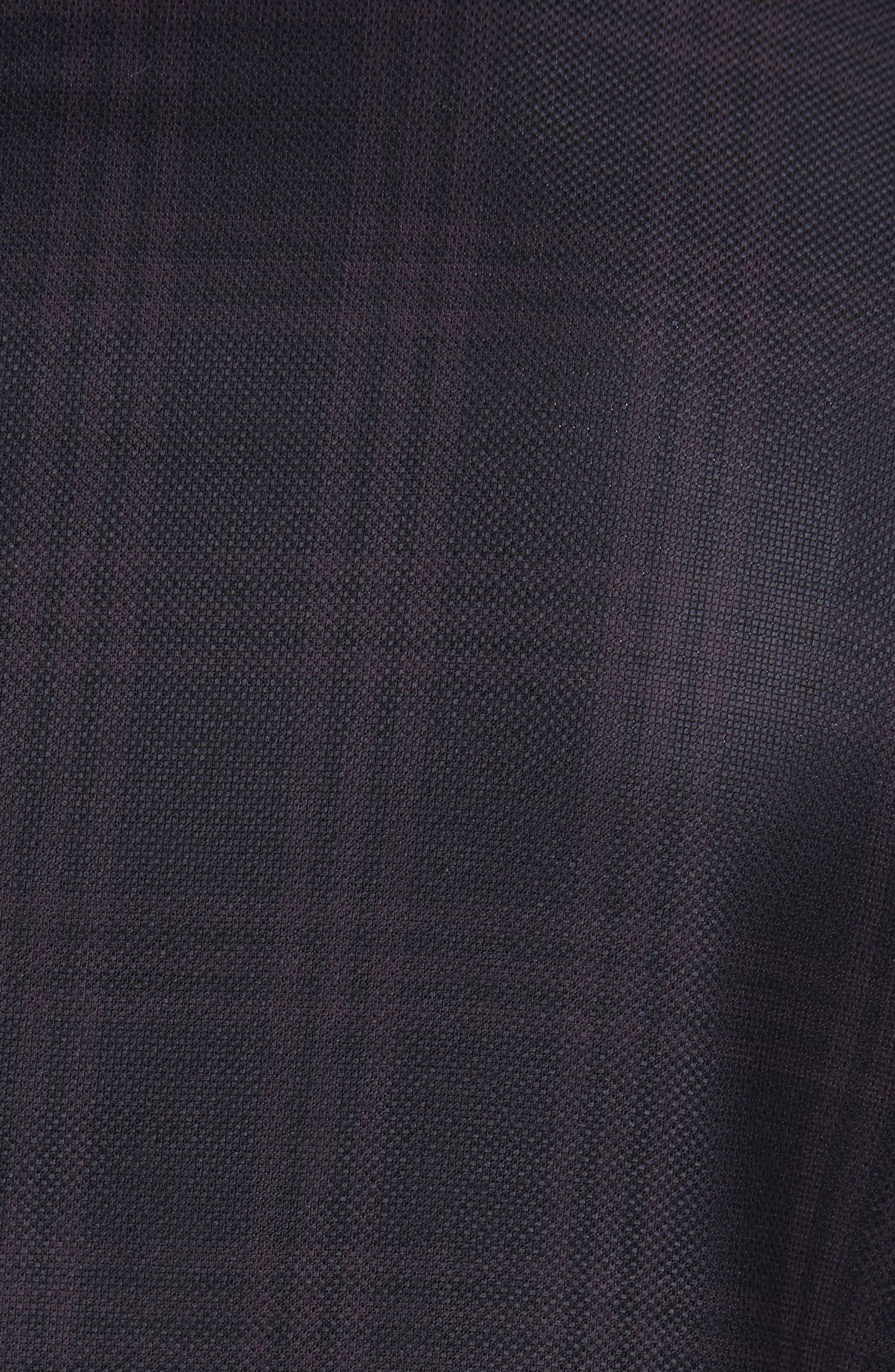 Jed Trim Fit Plaid Wool Sport Coat,                             Alternate thumbnail 5, color,                             Black