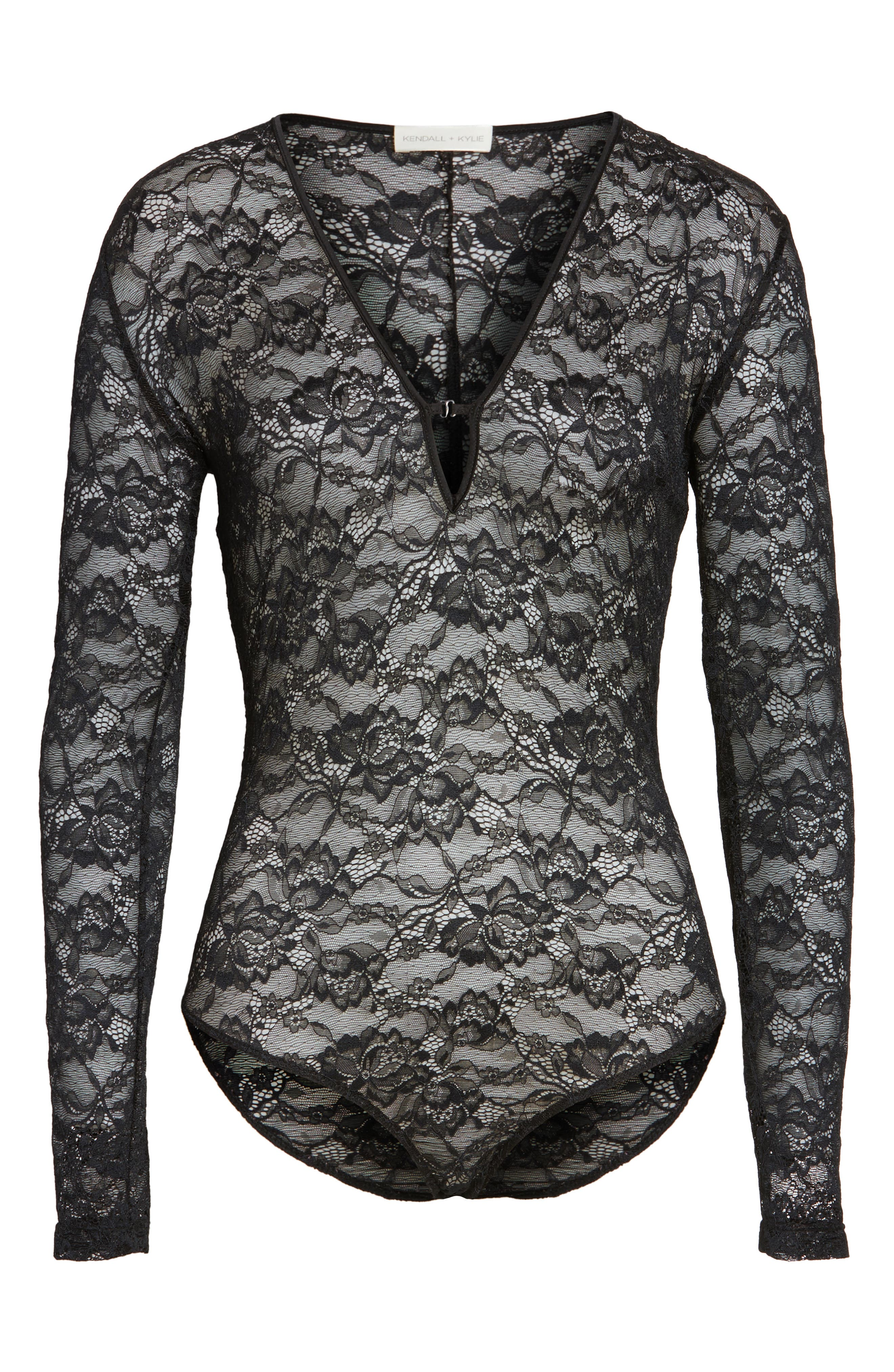 Alternate Image 4  - KENDALL + KYLIE Lace Bodysuit