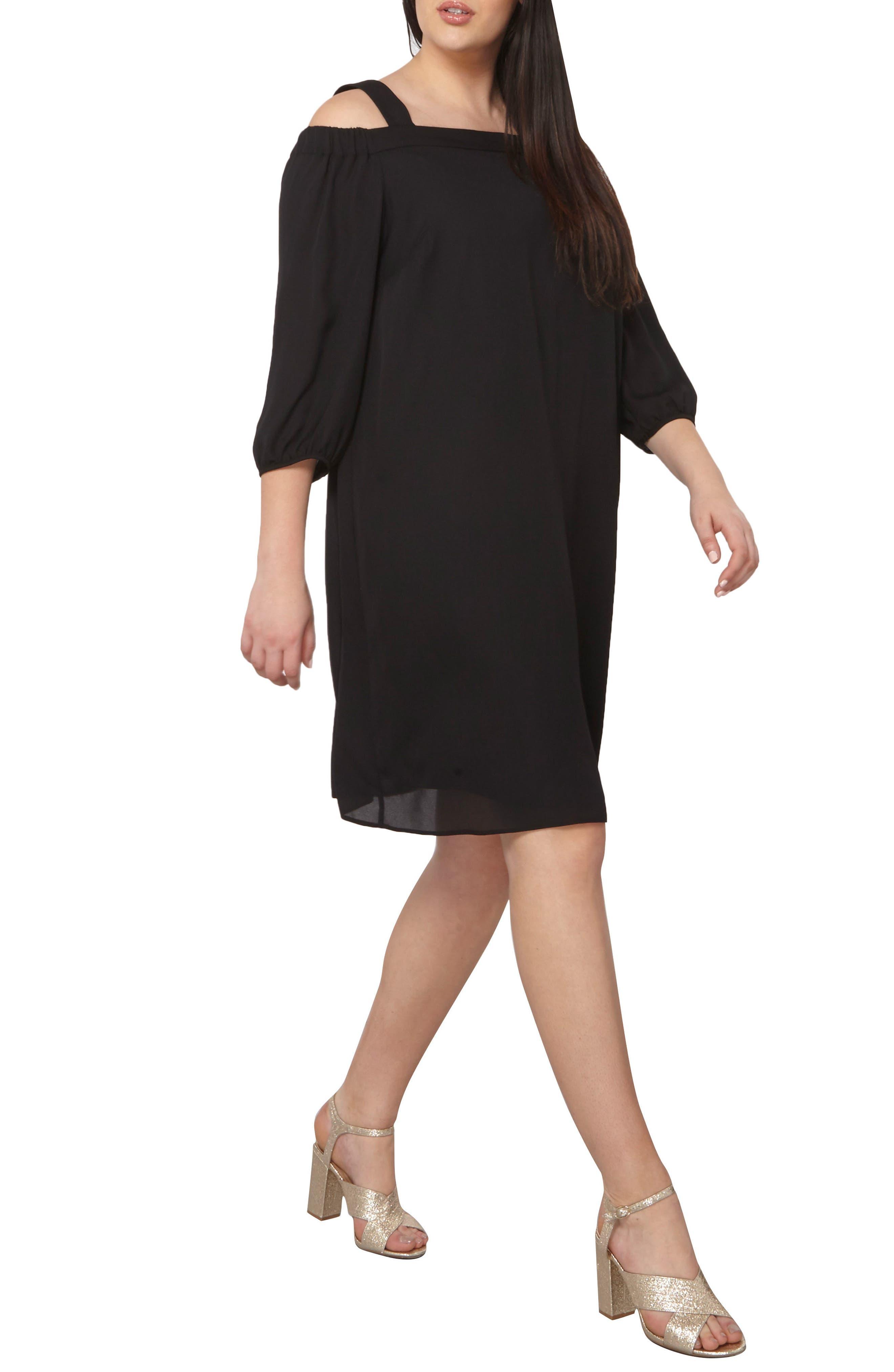 Dorothy Perkins Off the Shoulder Shift Dress (Plus Size)