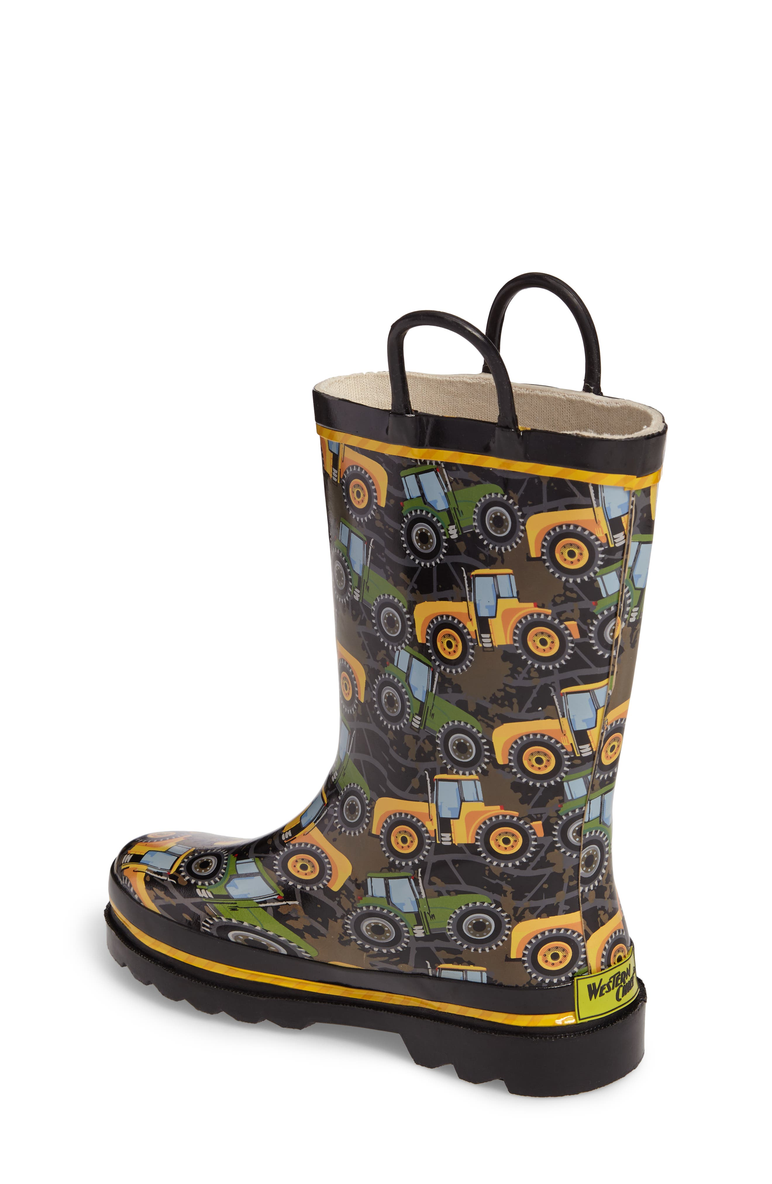 Tractor Tough Rain Boot,                             Alternate thumbnail 2, color,                             Black