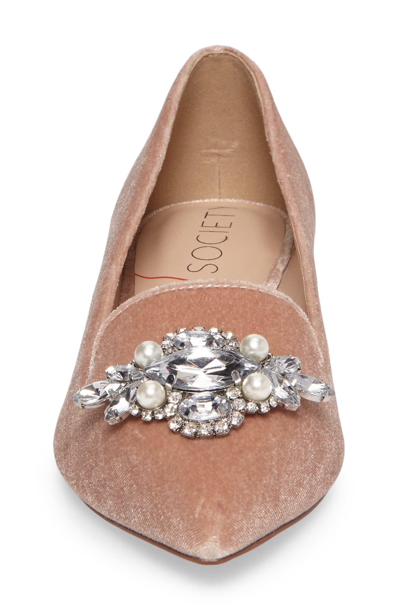 Alternate Image 4  - Sole Society Libry Crystal Embellished Flat (Women)