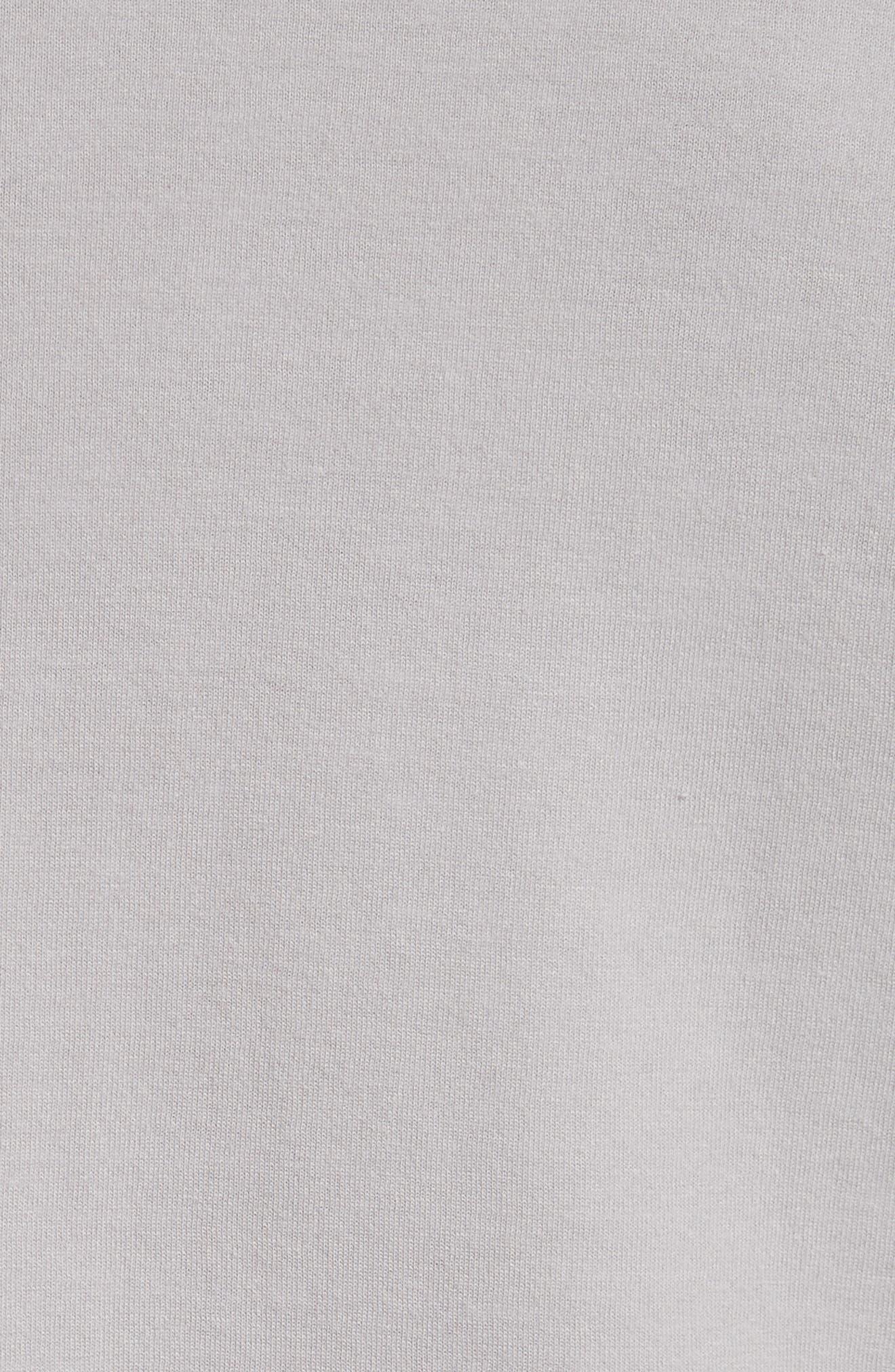 Long Sleeve T-Shirt,                             Alternate thumbnail 5, color,                             Grey