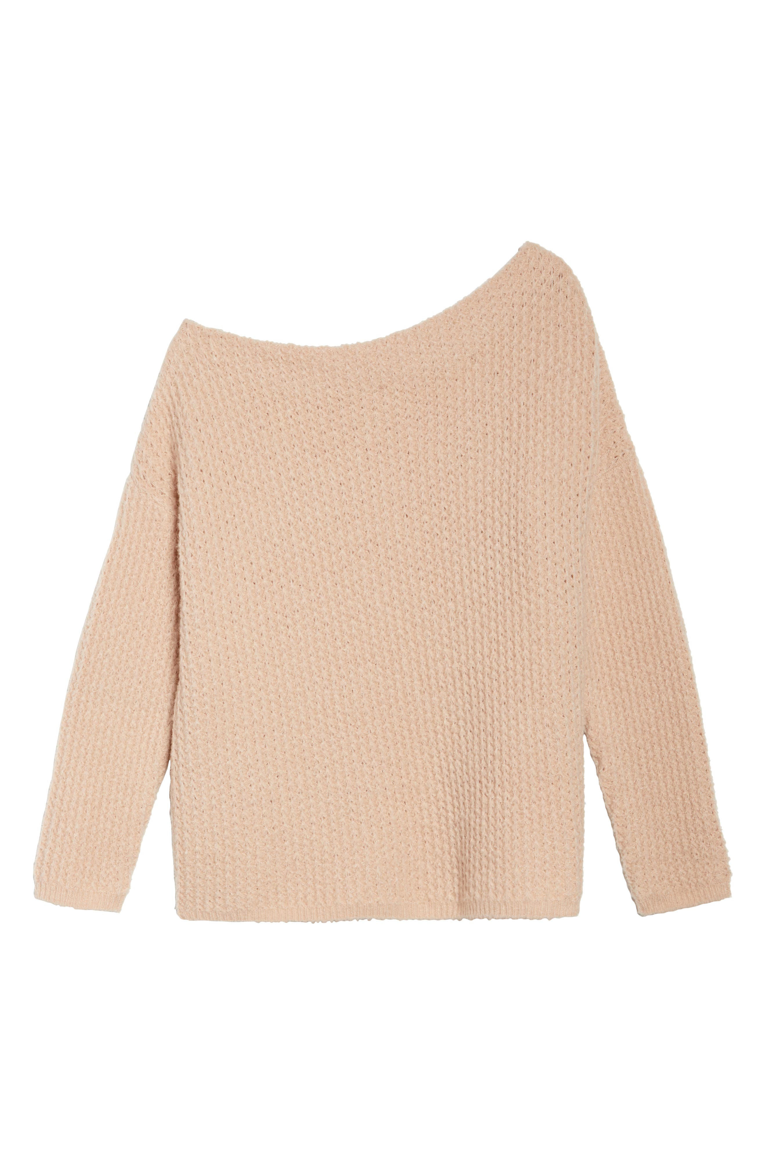 Off the Shoulder Sweater,                             Alternate thumbnail 7, color,                             Blossom