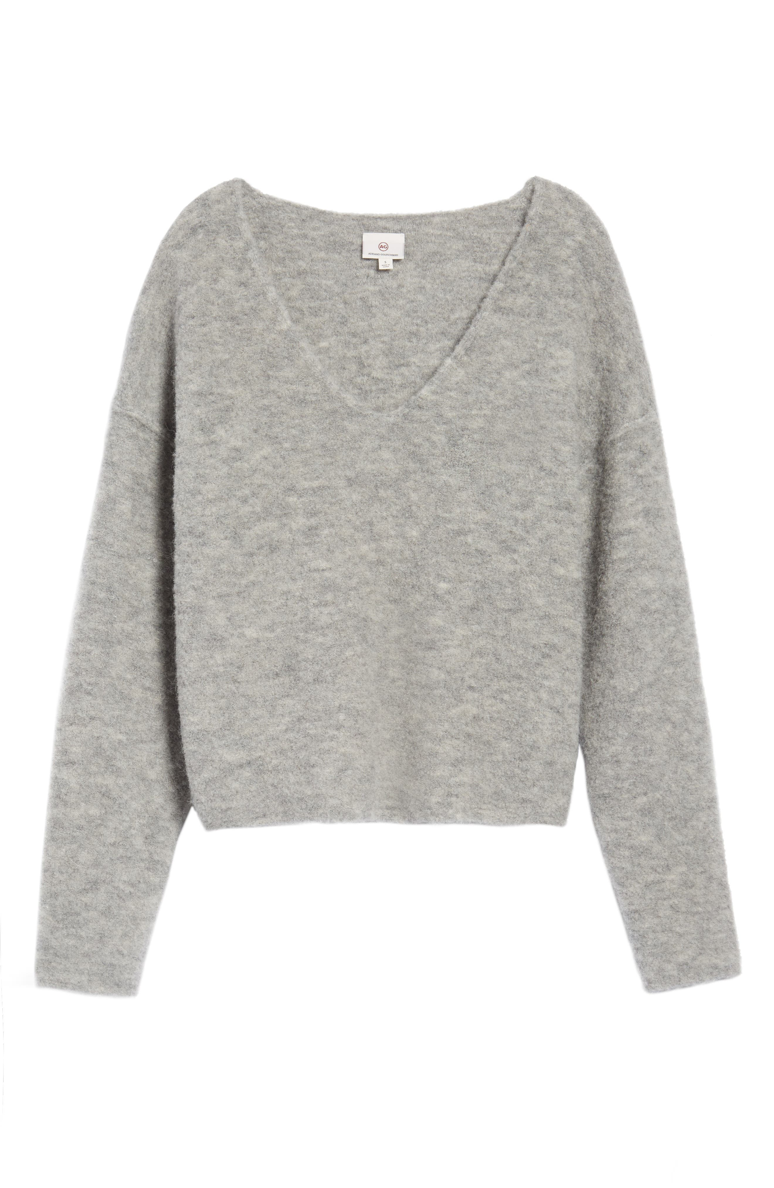 Skye Sweater,                             Alternate thumbnail 6, color,                             Heather Grey