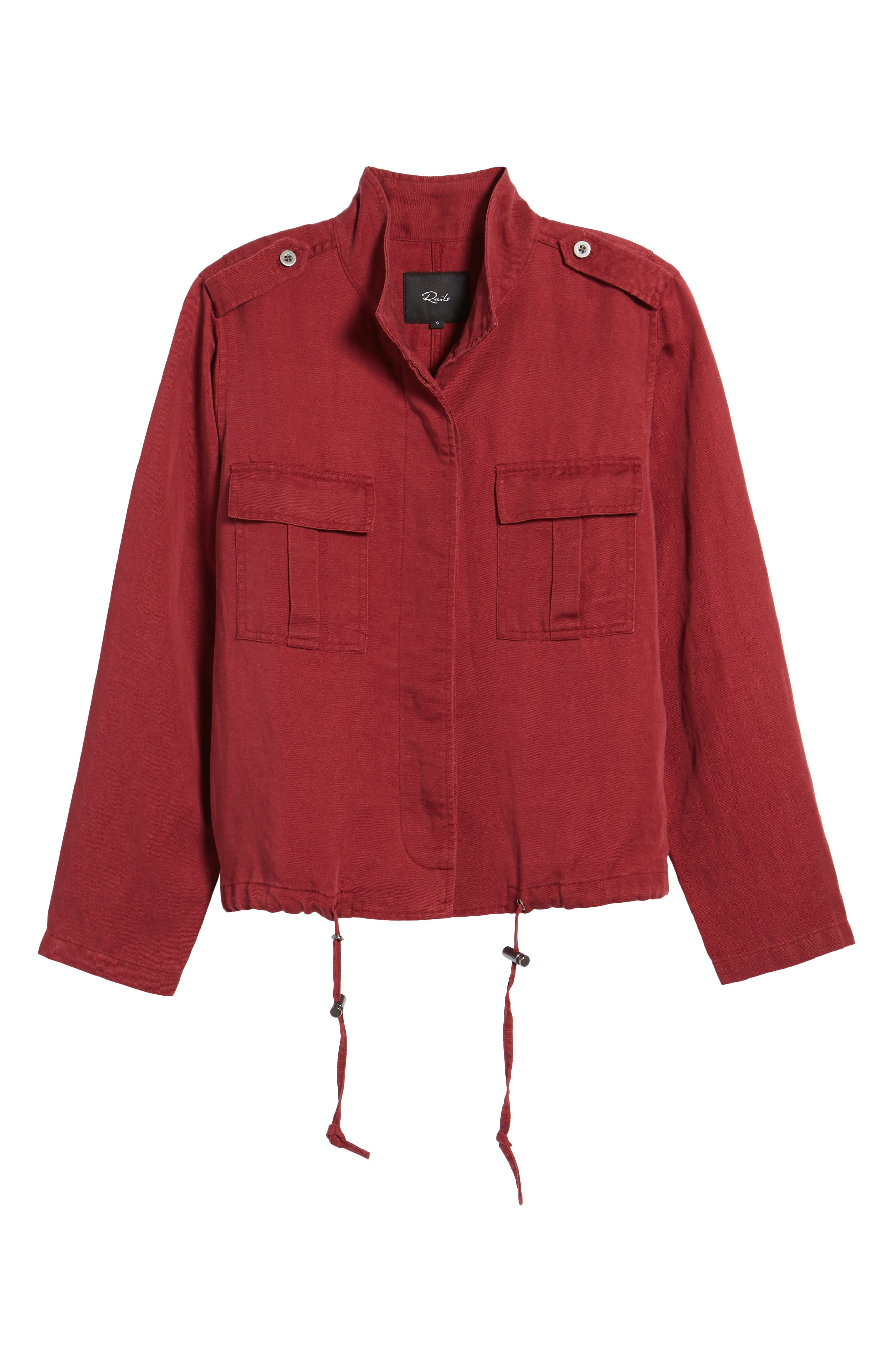 Maverick Military Jacket,                             Alternate thumbnail 6, color,                             Oxblood