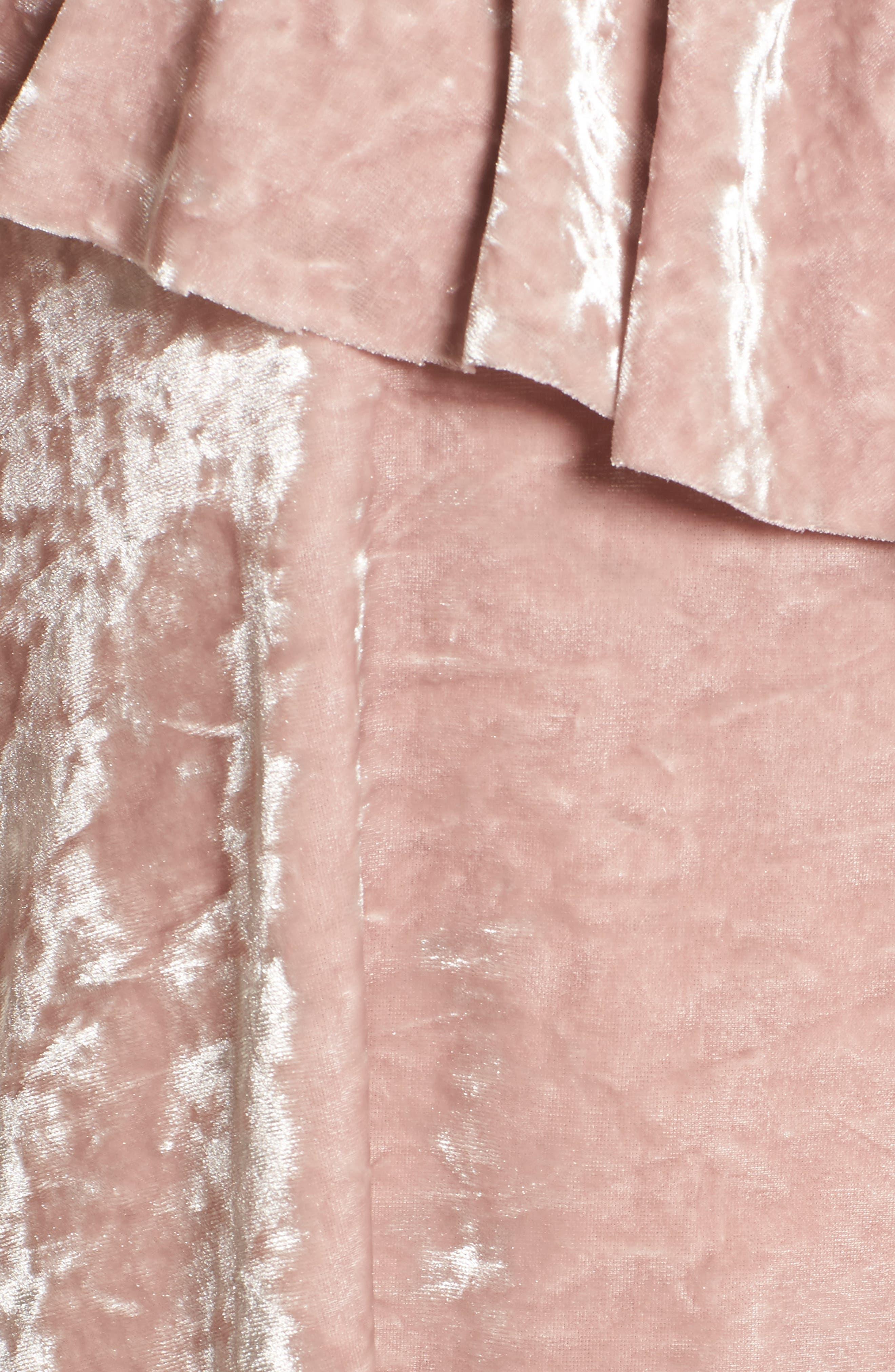 Alternate Image 5  - BP. Velour One-Shoulder Top