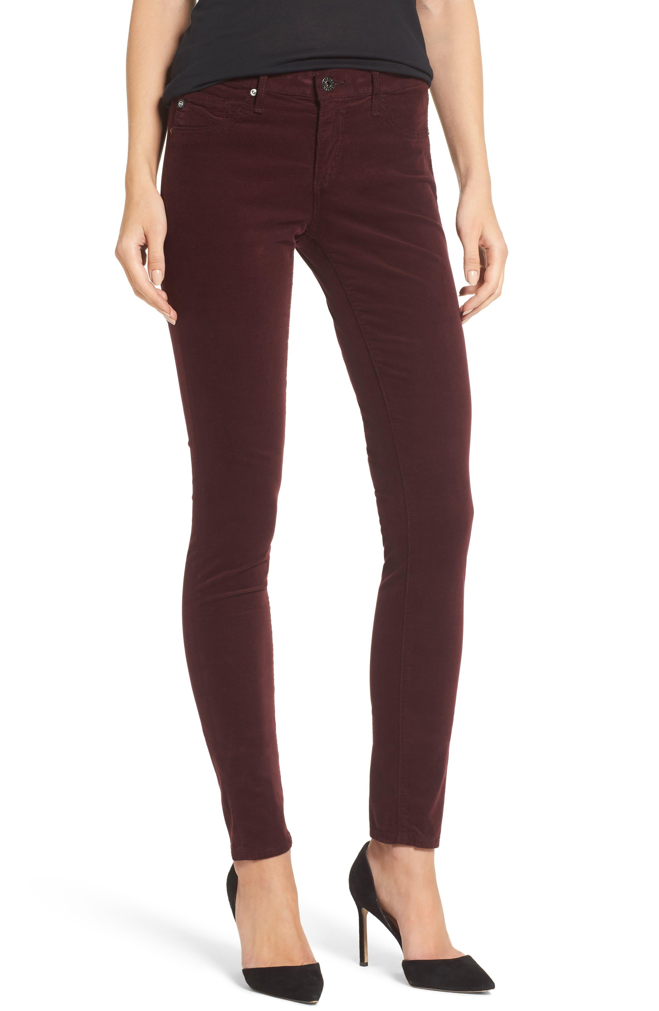 Main Image - AG The Legging Super Skinny Corduroy Pants