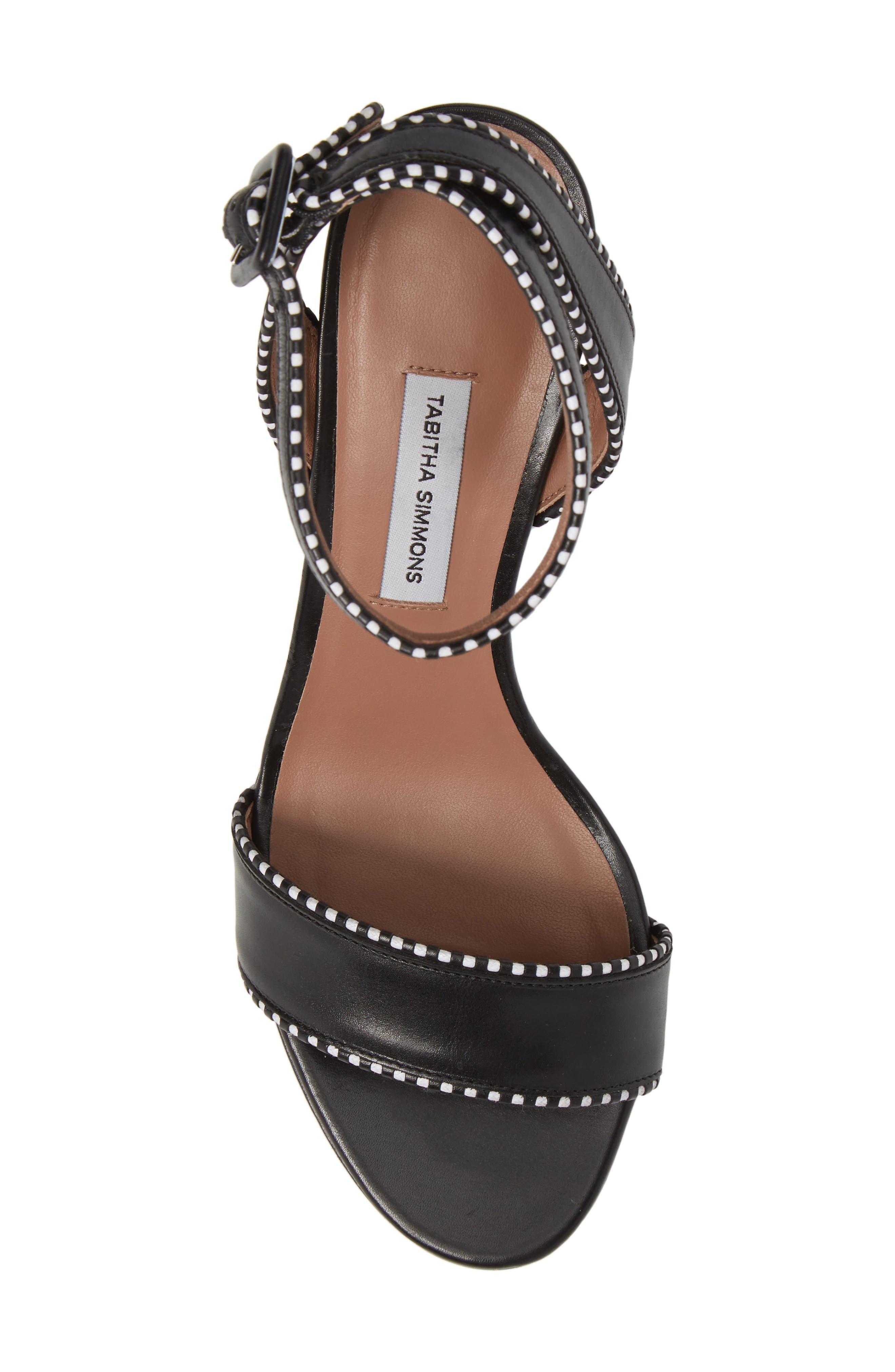 Leticia Profilo Ankle Strap Sandal,                             Alternate thumbnail 5, color,                             Black