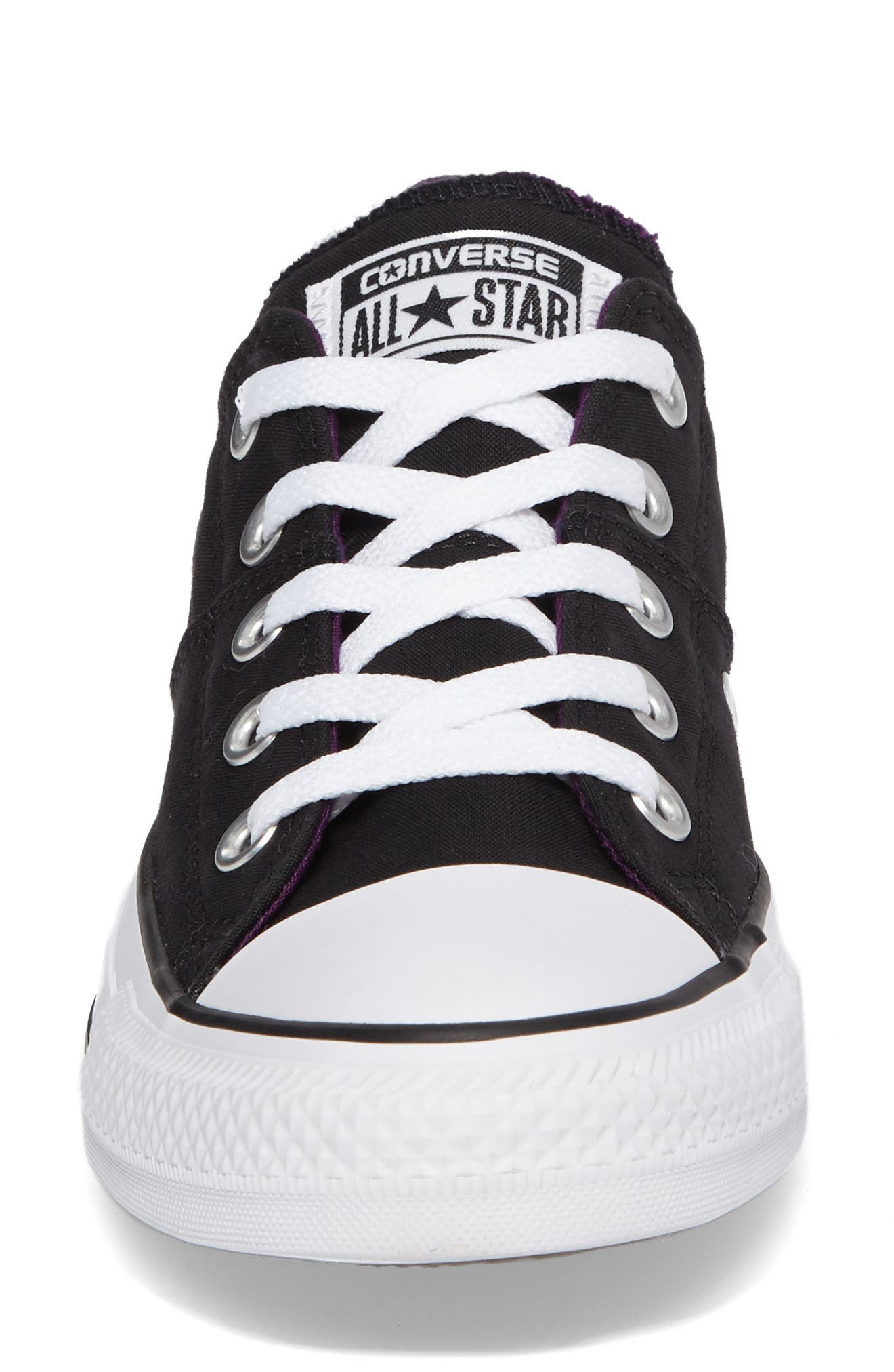 Chuck Taylor<sup>®</sup> All Star<sup>®</sup> Madison Low Top Sneaker,                             Alternate thumbnail 4, color,                             Black Canvas