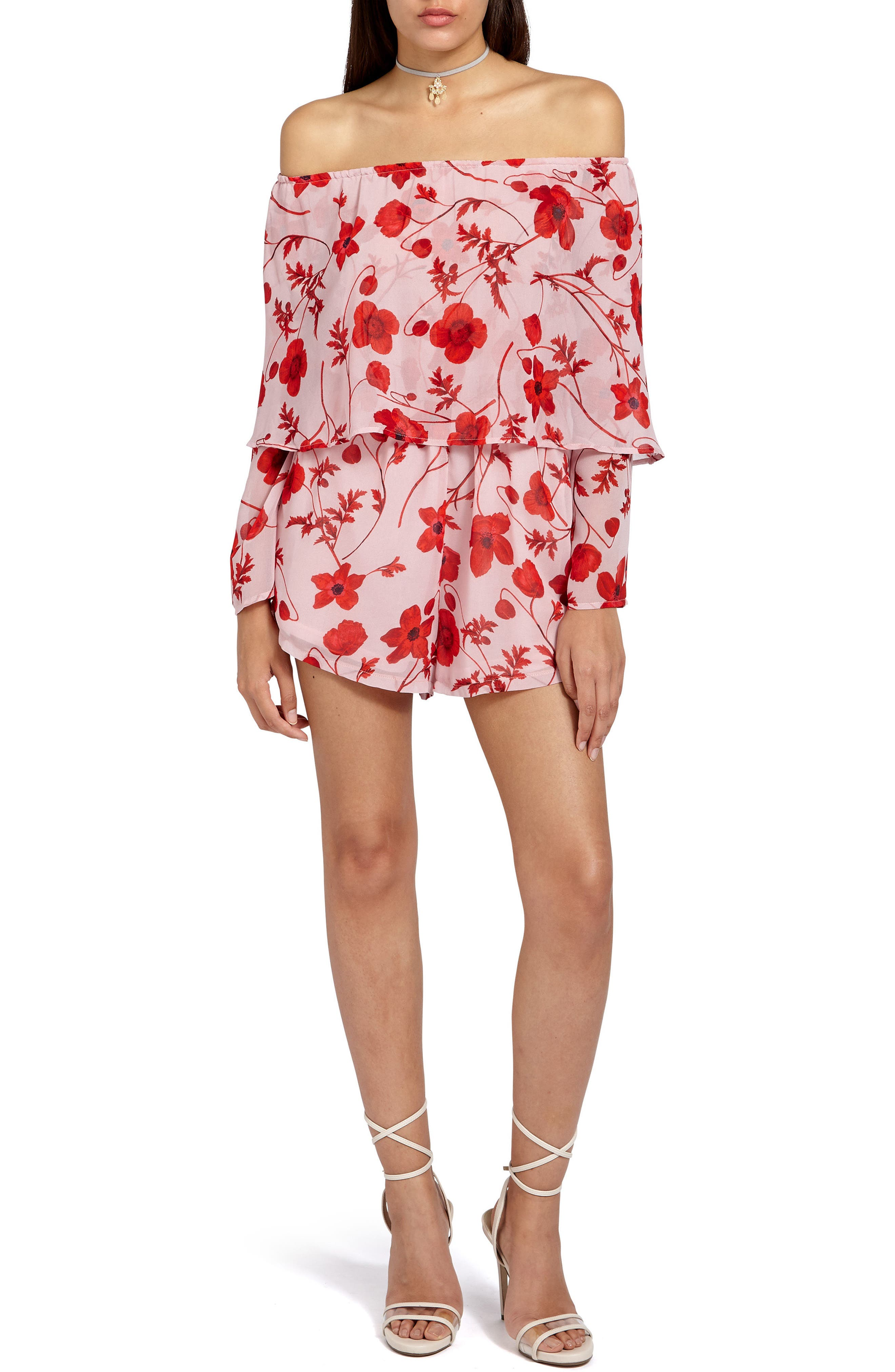 Main Image - Missguided Off the Shoulder Romper
