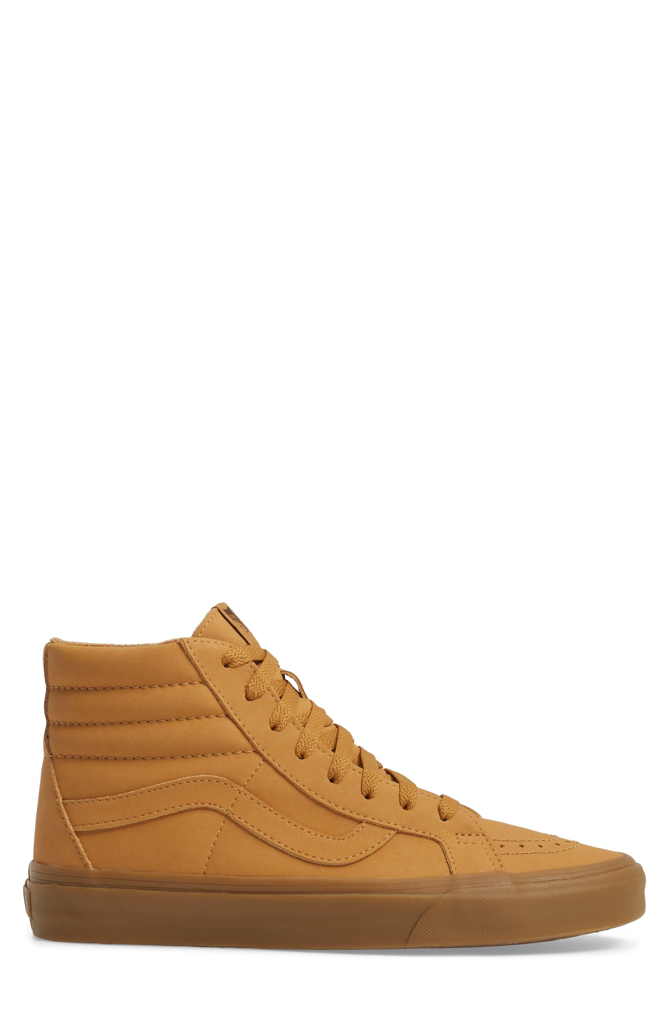 'Sk8-Hi Reissue' Sneaker,                             Alternate thumbnail 3, color,                             Light Gum/ Mono Canvas/Leather