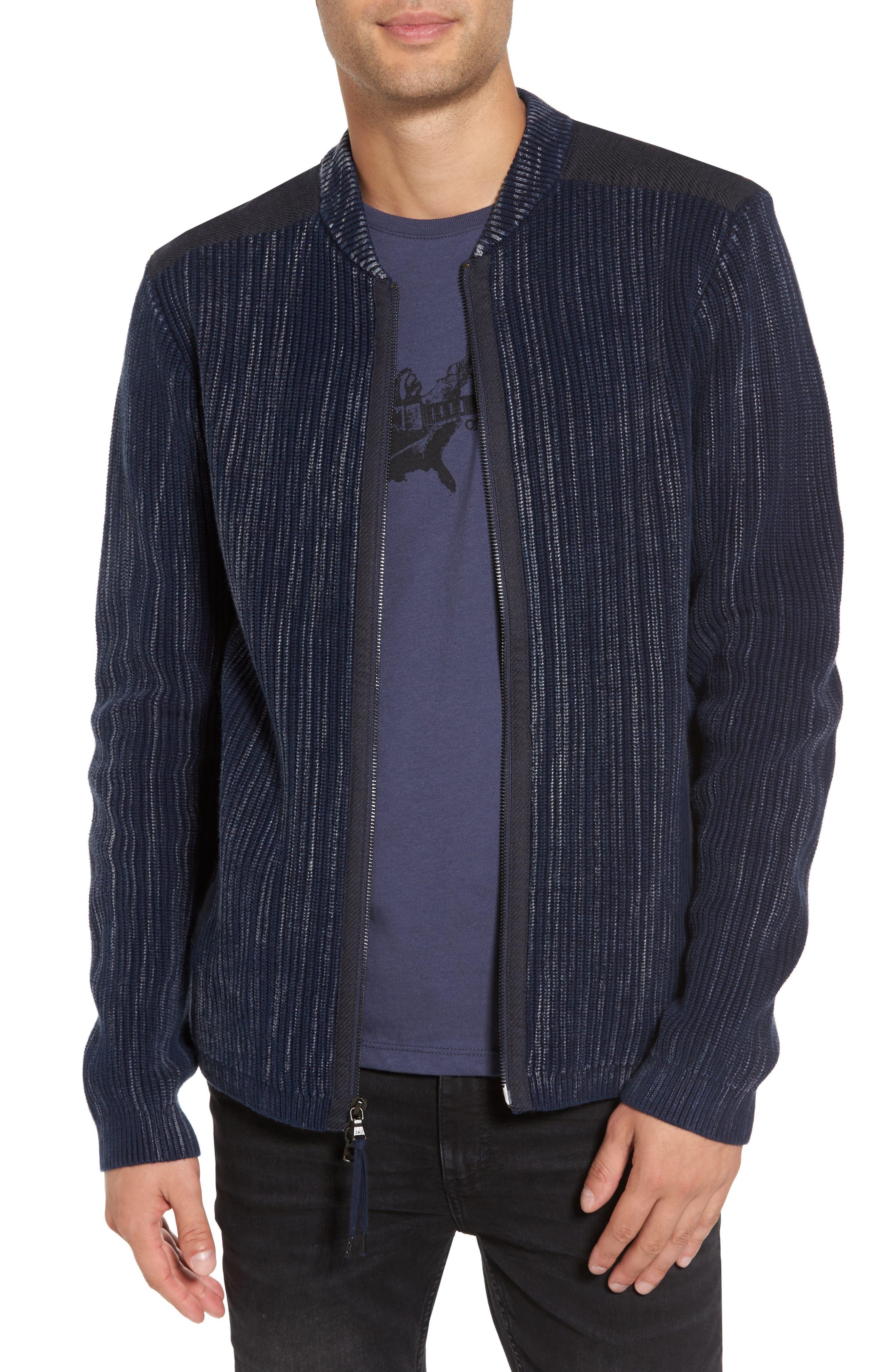 John Varvatos Star USA Cotton Zip Cardigan