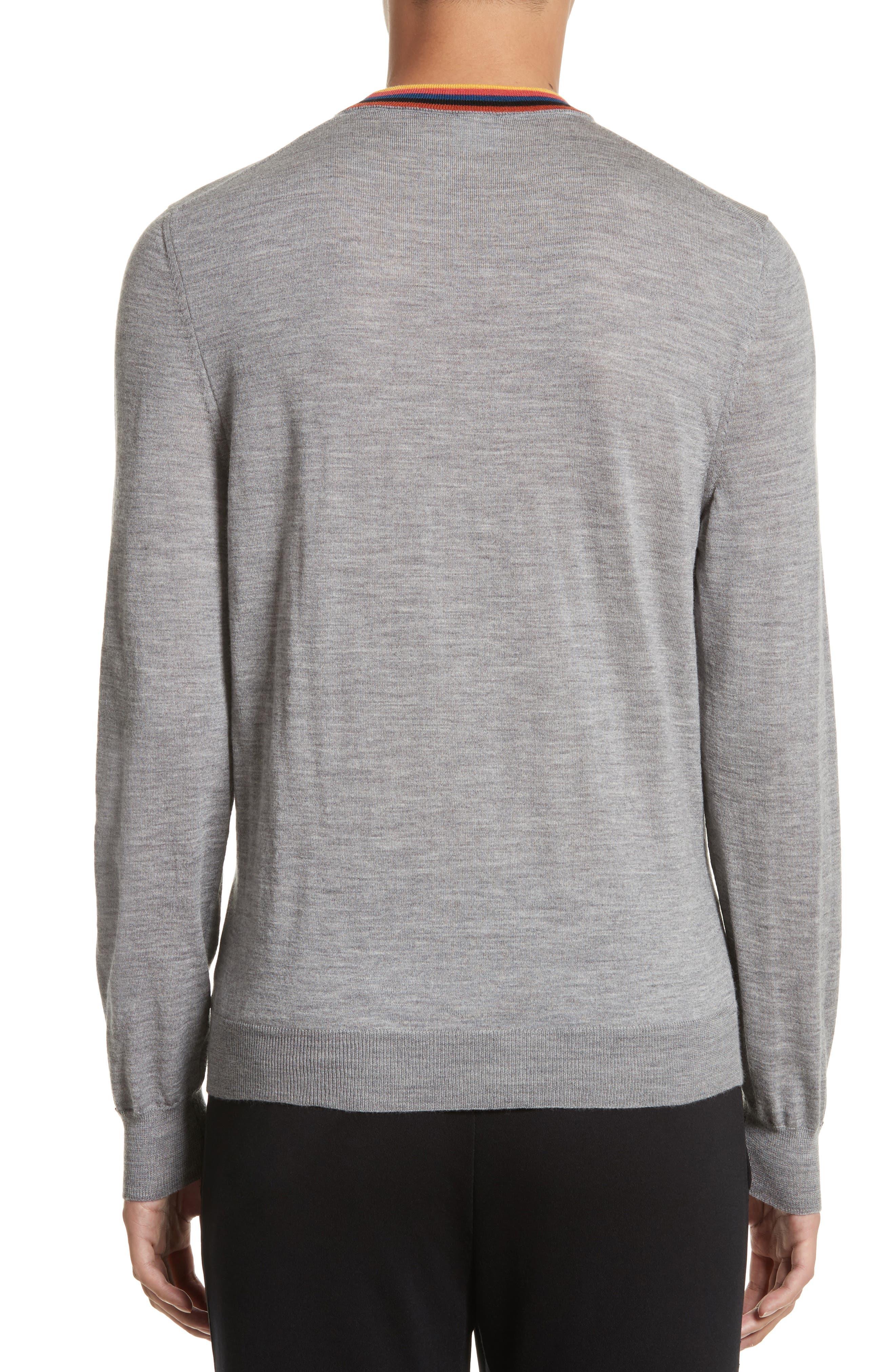 Artist Stripe Merino Wool Sweater,                             Alternate thumbnail 2, color,                             Grey
