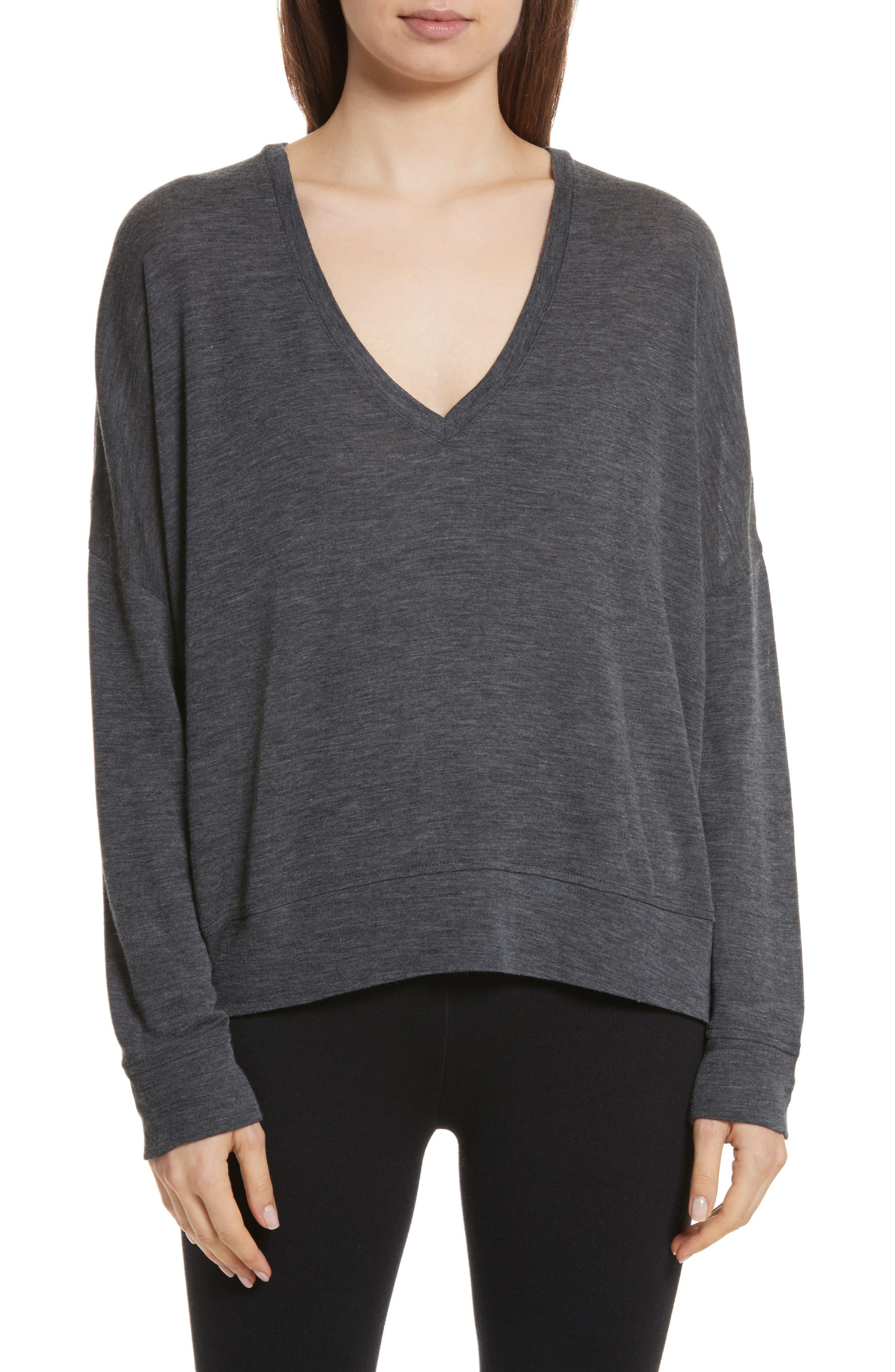 Vince Drop Shoulder V-Neck Sweater