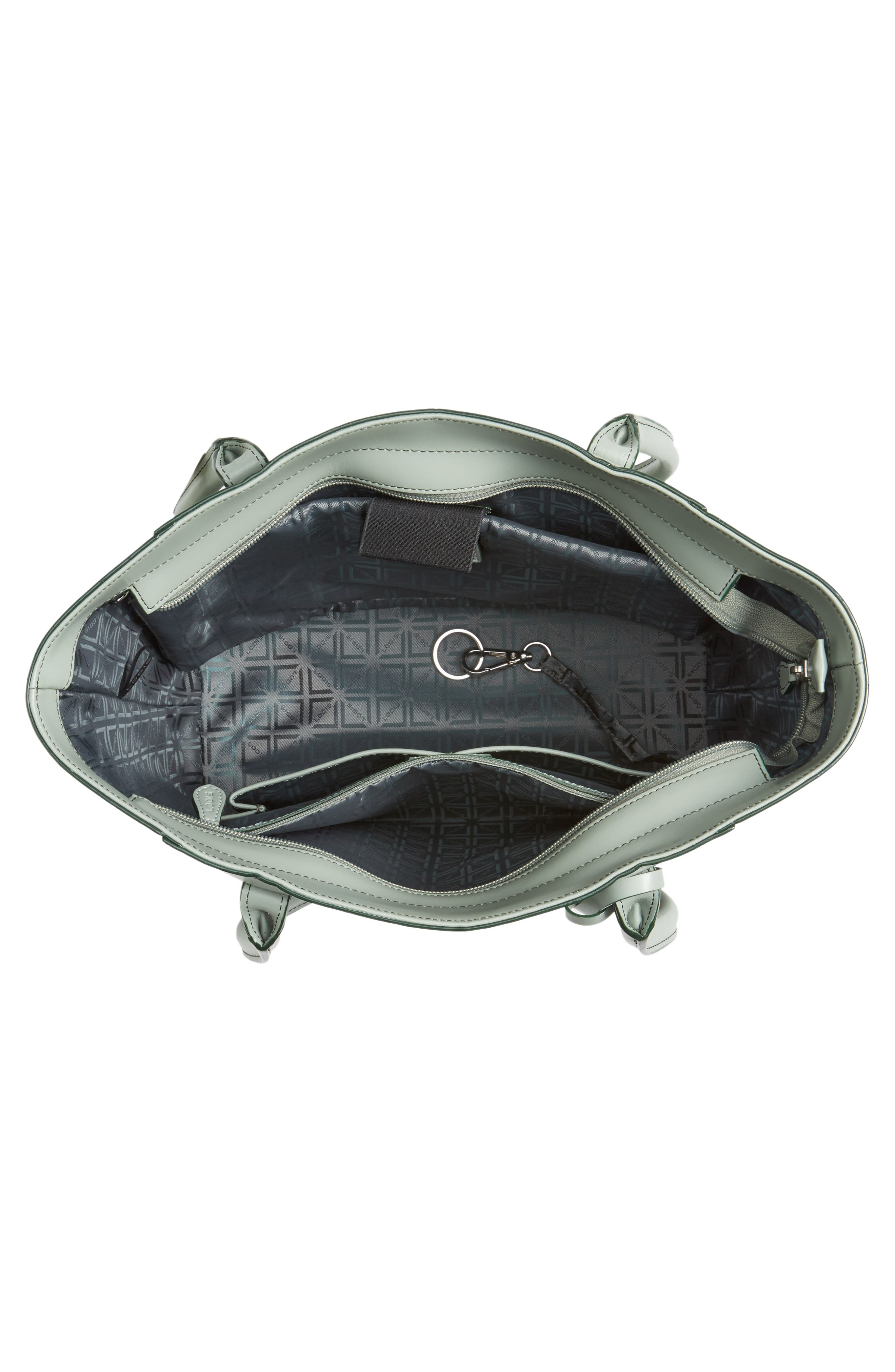 Alternate Image 3  - Lodis Audrey Under Lock & Key - Medium Margaret RFID Leather Tote with Zip Pouch