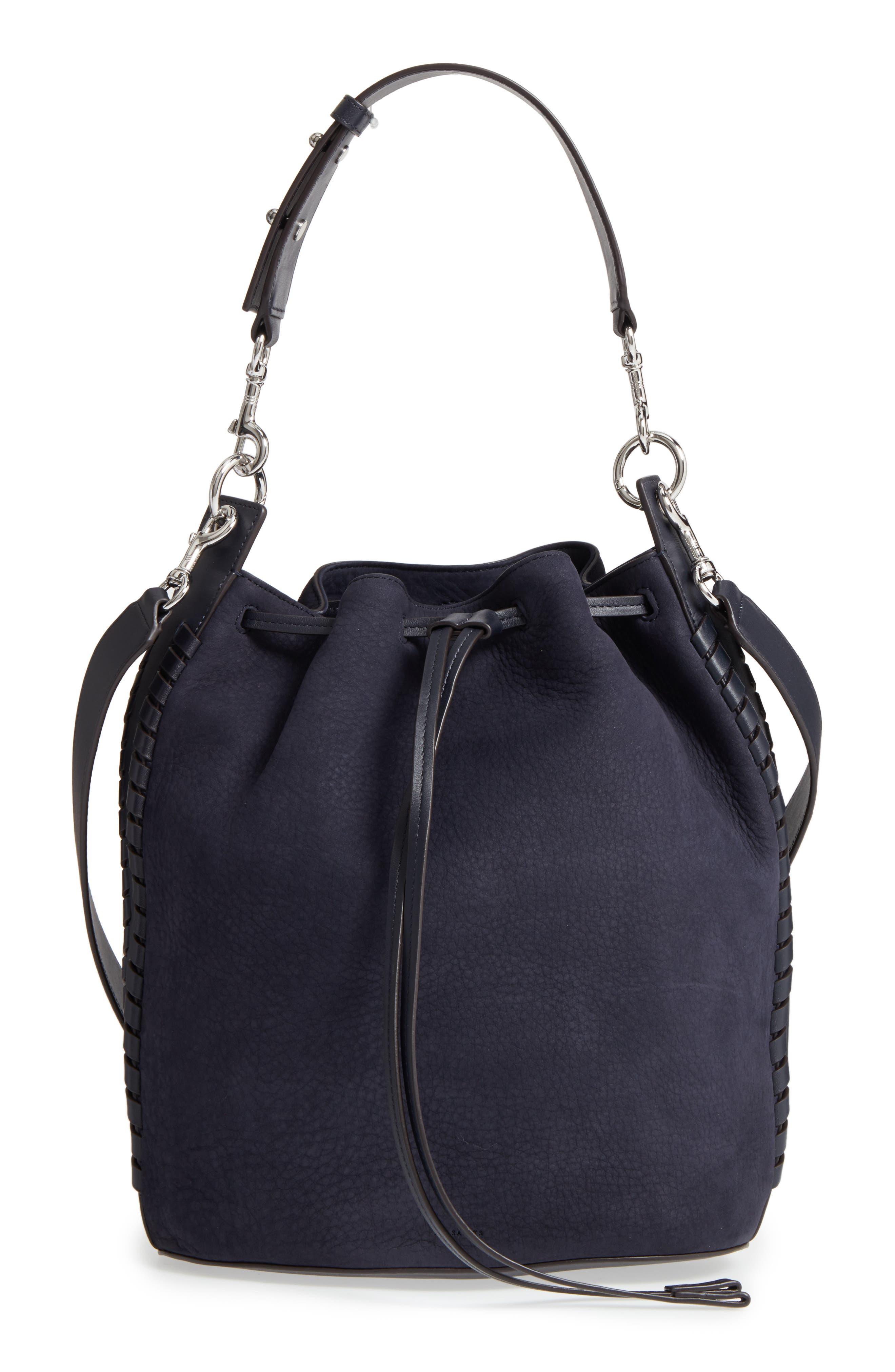 Main Image - ALLSAINTS Ray Nubuck Leather Bucket Bag