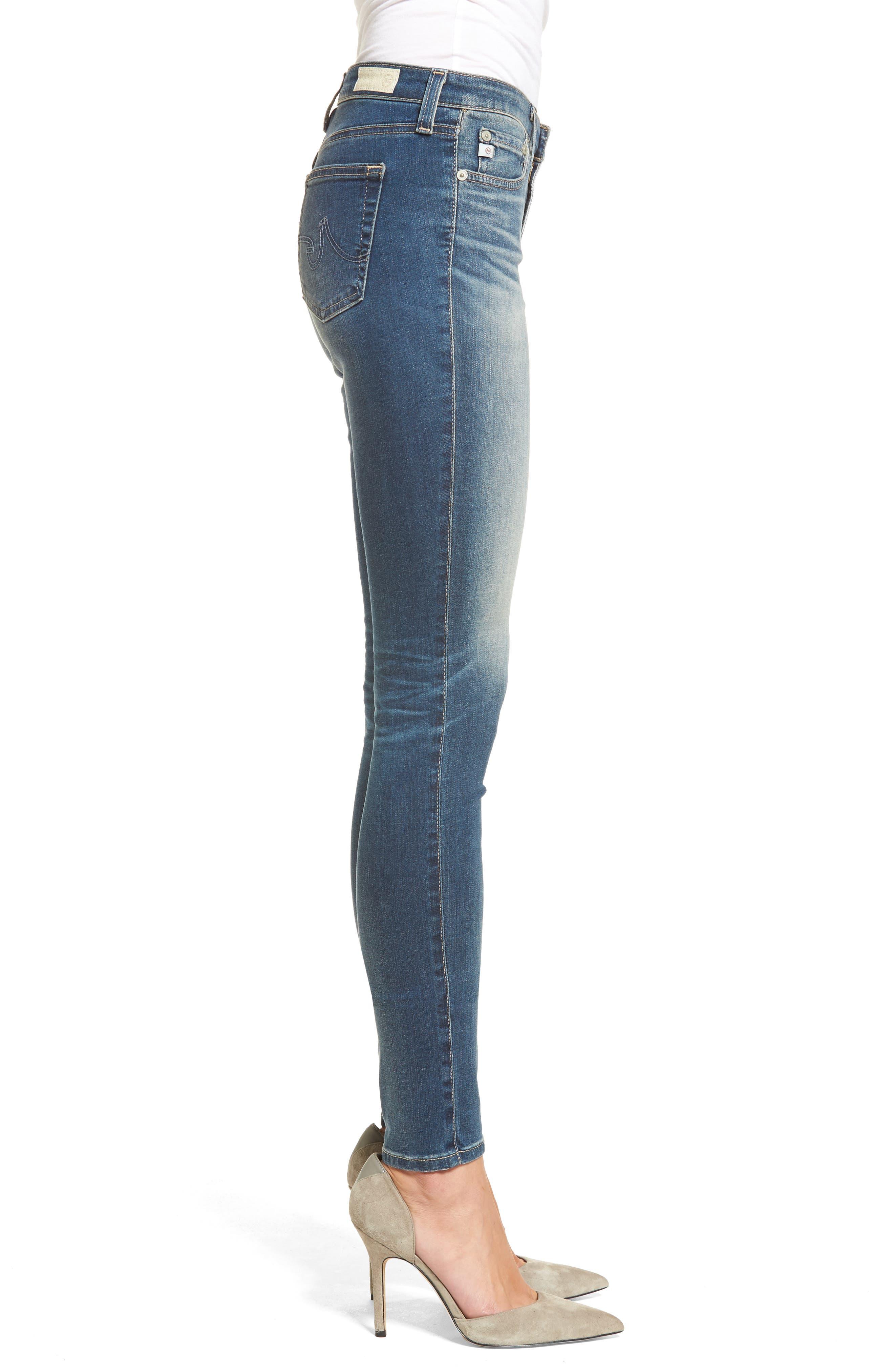 Alternate Image 3  - AG The Legging Super Skinny Jeans (12 Years Abide)