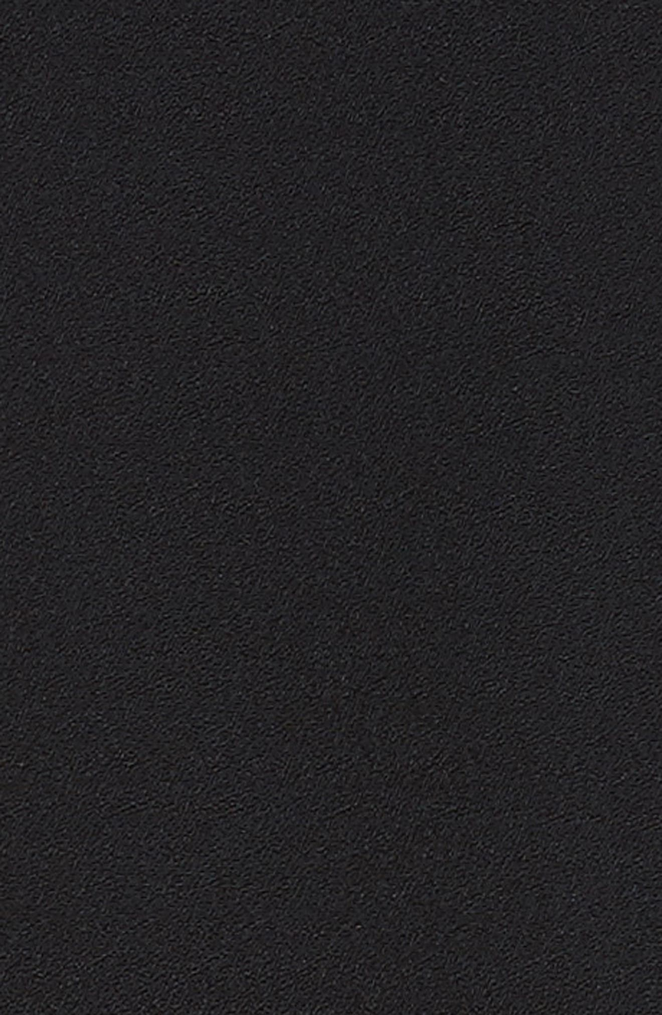 One-Shoulder Draped Cady Dress,                             Alternate thumbnail 6, color,                             Black