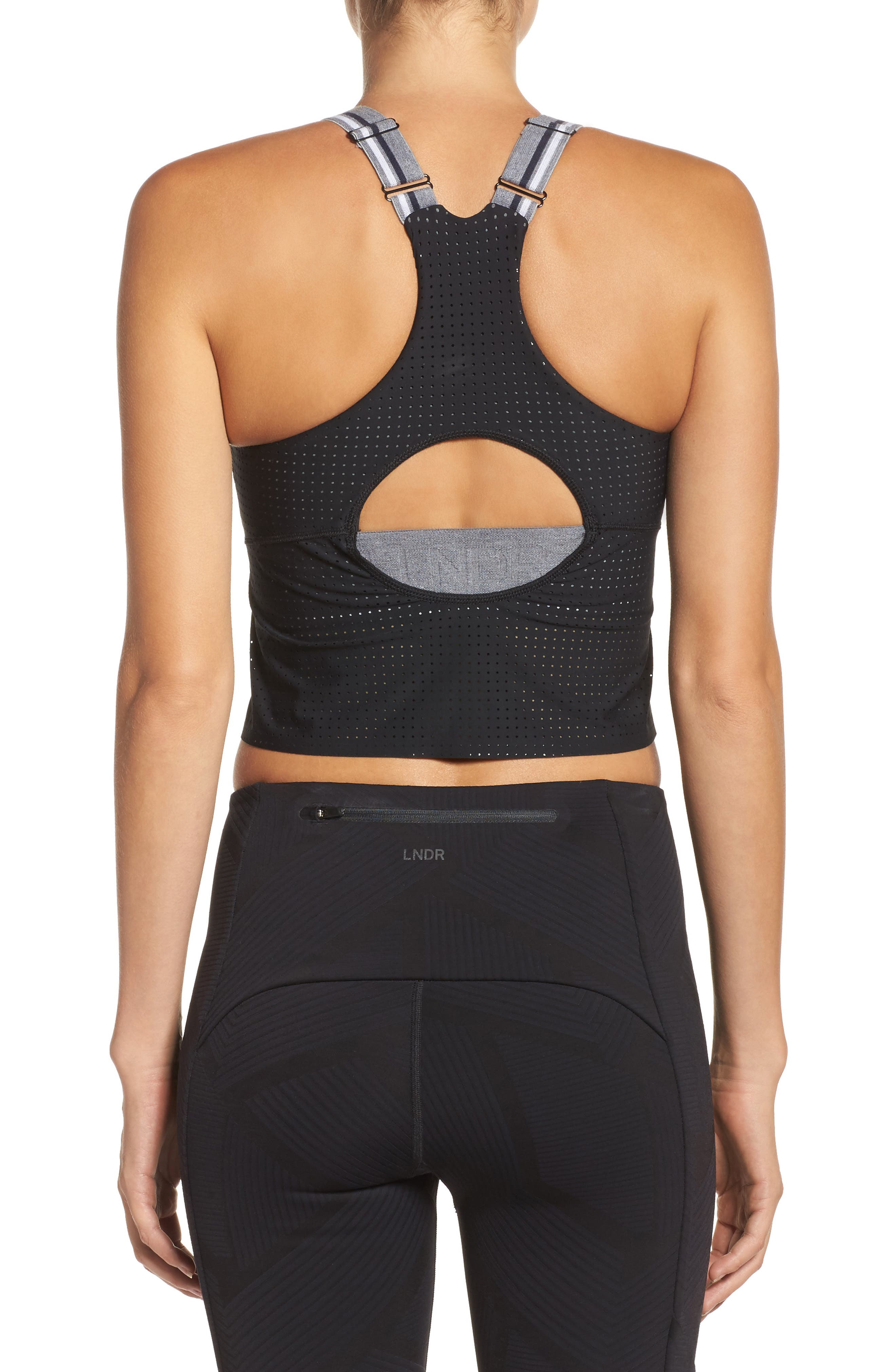 2-in-1 Crop Tank,                             Alternate thumbnail 2, color,                             Black