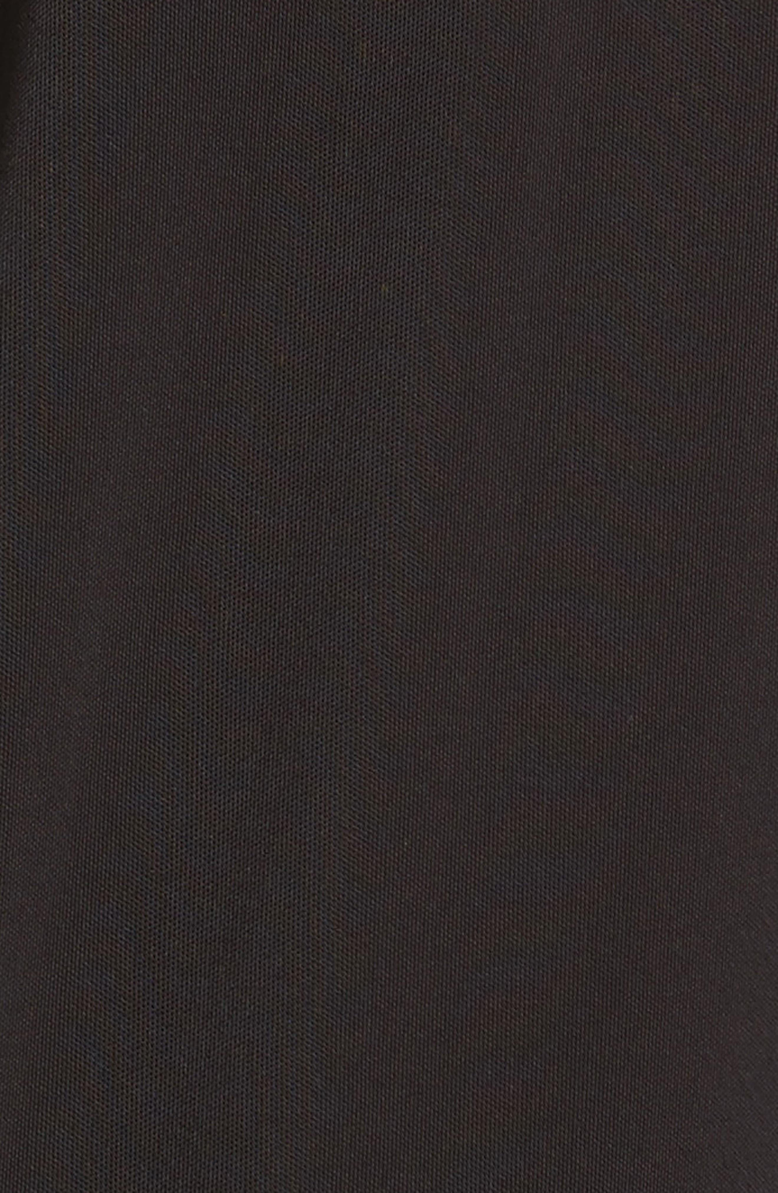 Merino Trim Turtleneck Sweater,                             Alternate thumbnail 5, color,                             Black