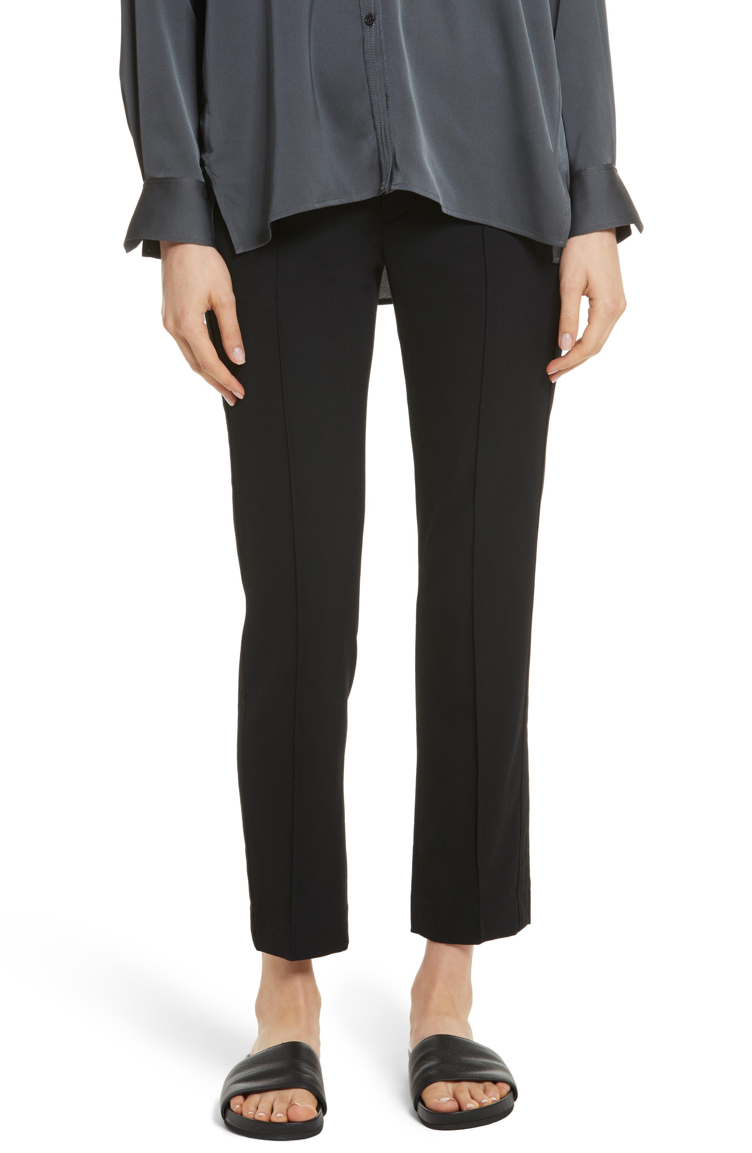 Stitch Front Pants,                         Main,                         color, Black