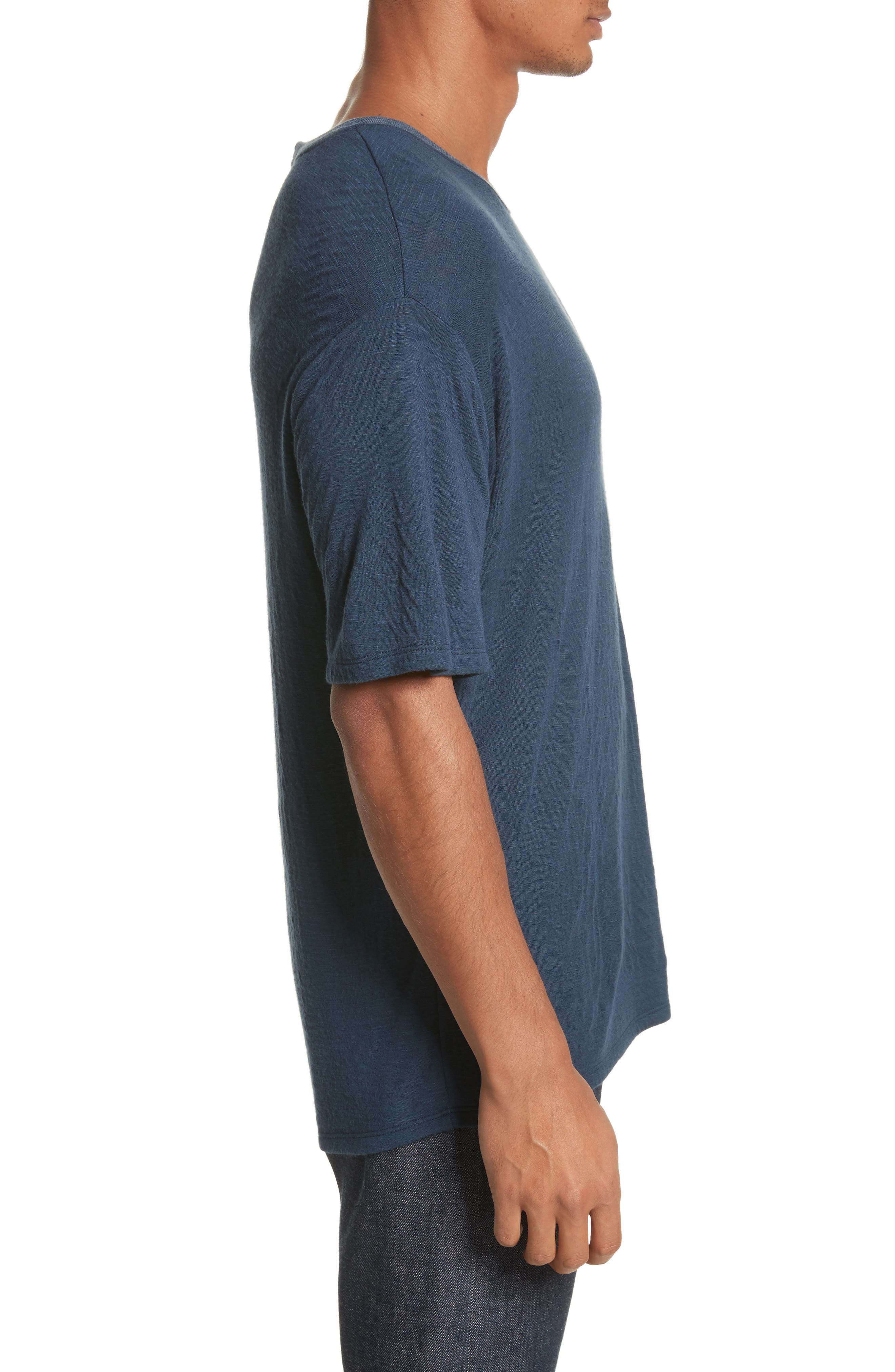 Double Face T-Shirt,                             Alternate thumbnail 3, color,                             Navy
