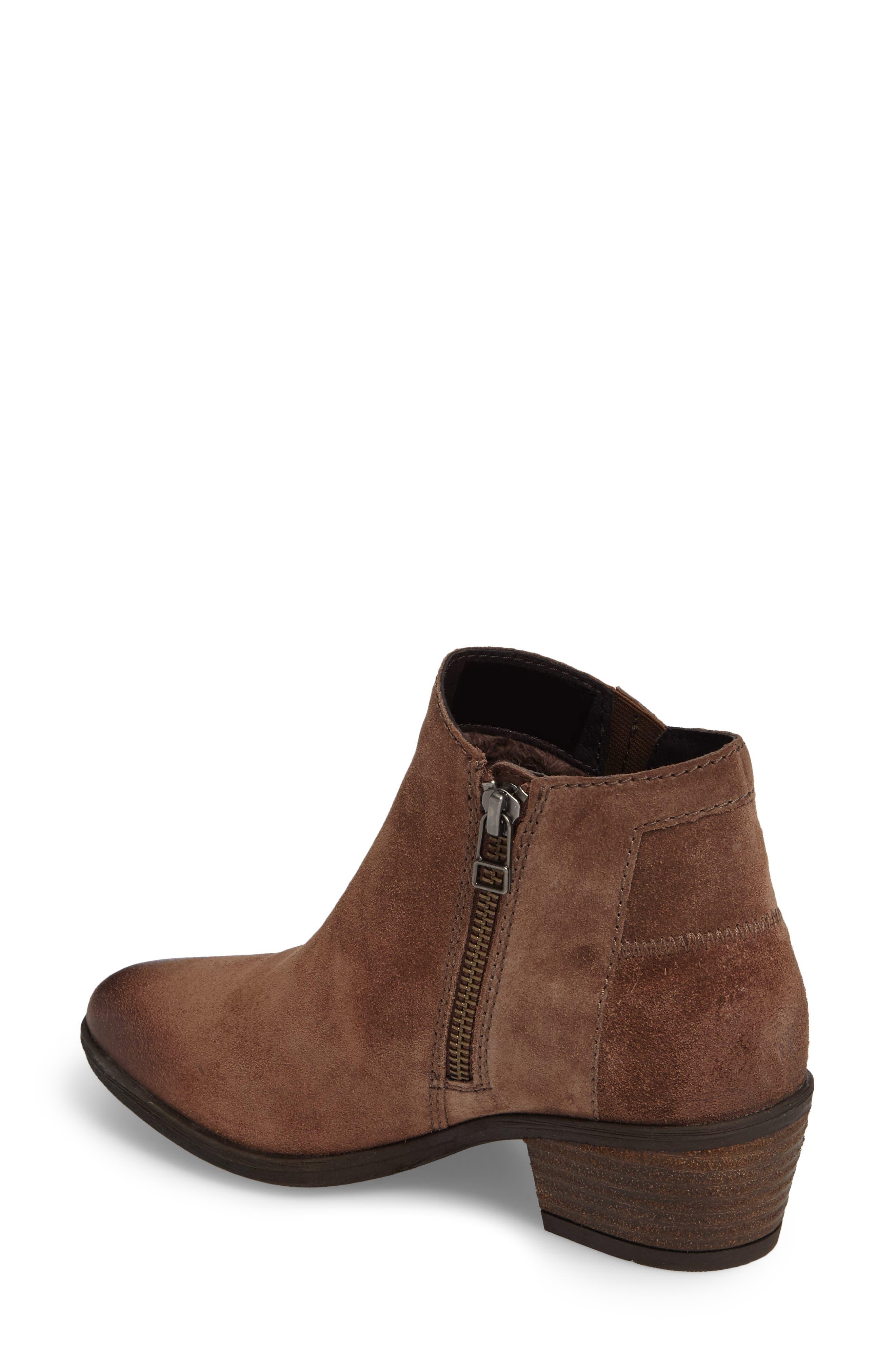 Daphne Bootie,                             Alternate thumbnail 2, color,                             Brown Leather