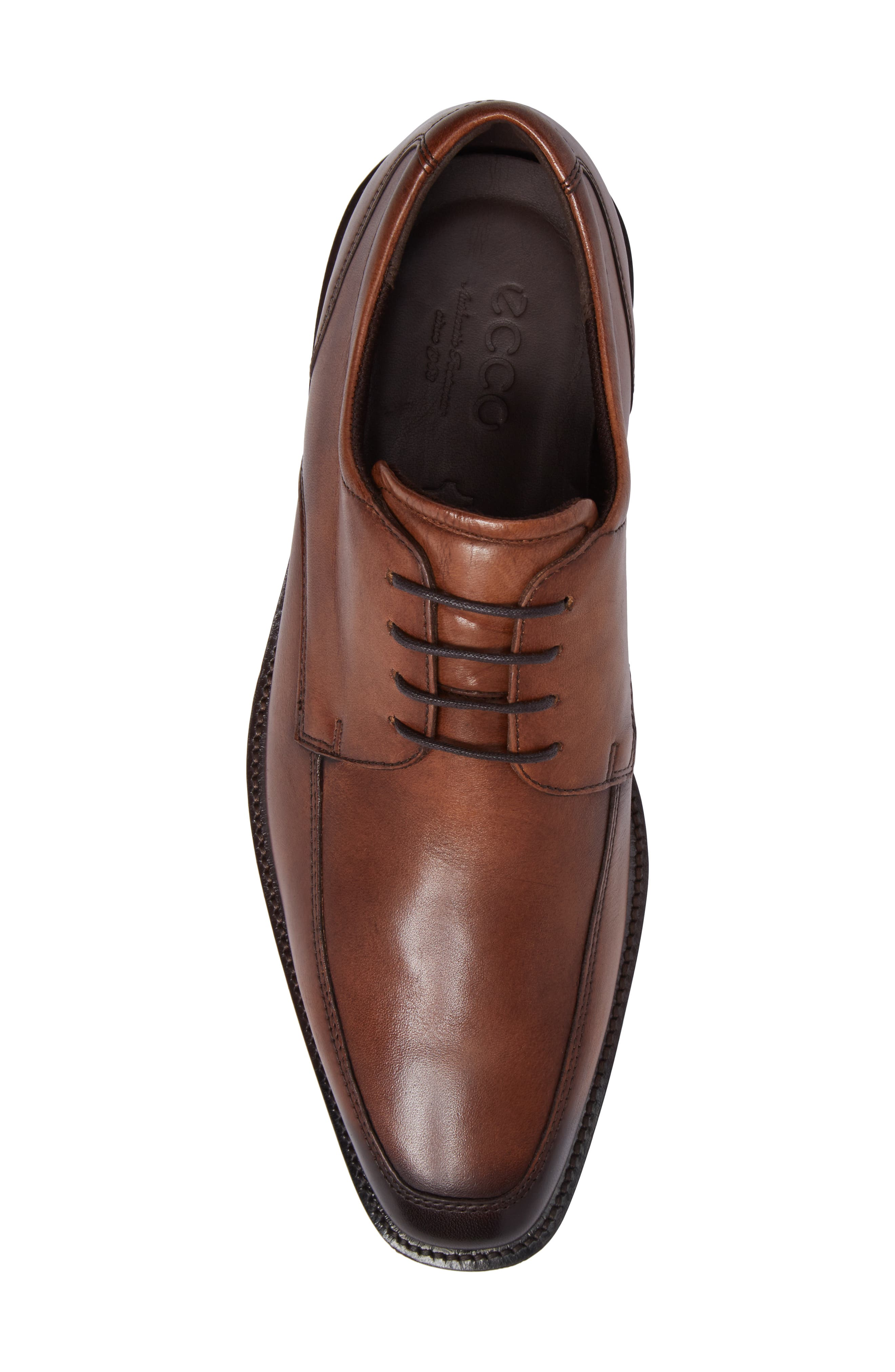 Faro Apron Toe Derby,                             Alternate thumbnail 5, color,                             Amber Leather