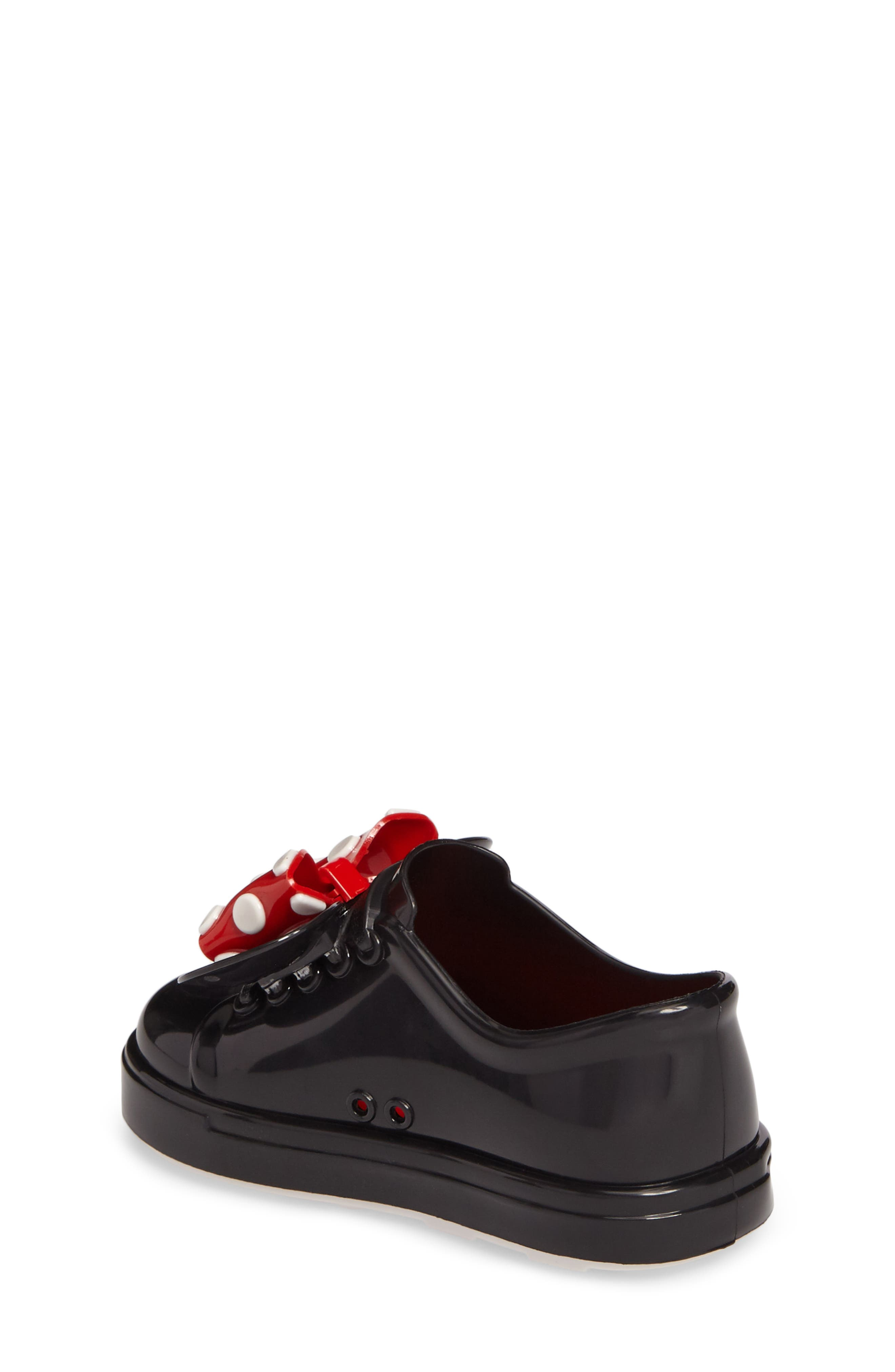 Mini Melissa Disney<sup>®</sup> Be Minnie Slip-On Sneaker,                             Alternate thumbnail 2, color,                             Black Glossy