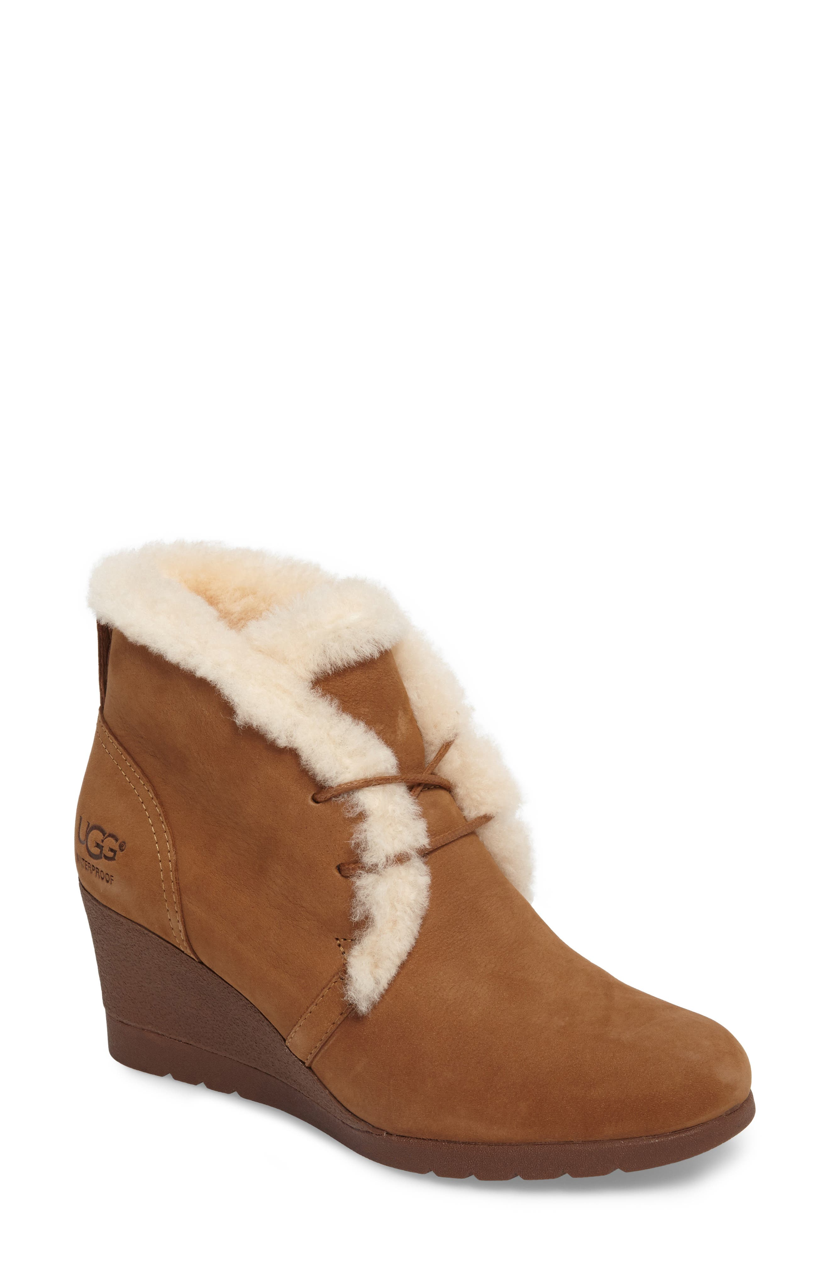 Alternate Image 1 Selected - UGG® Jeovana Genuine Shearling Lined Boot (Women)