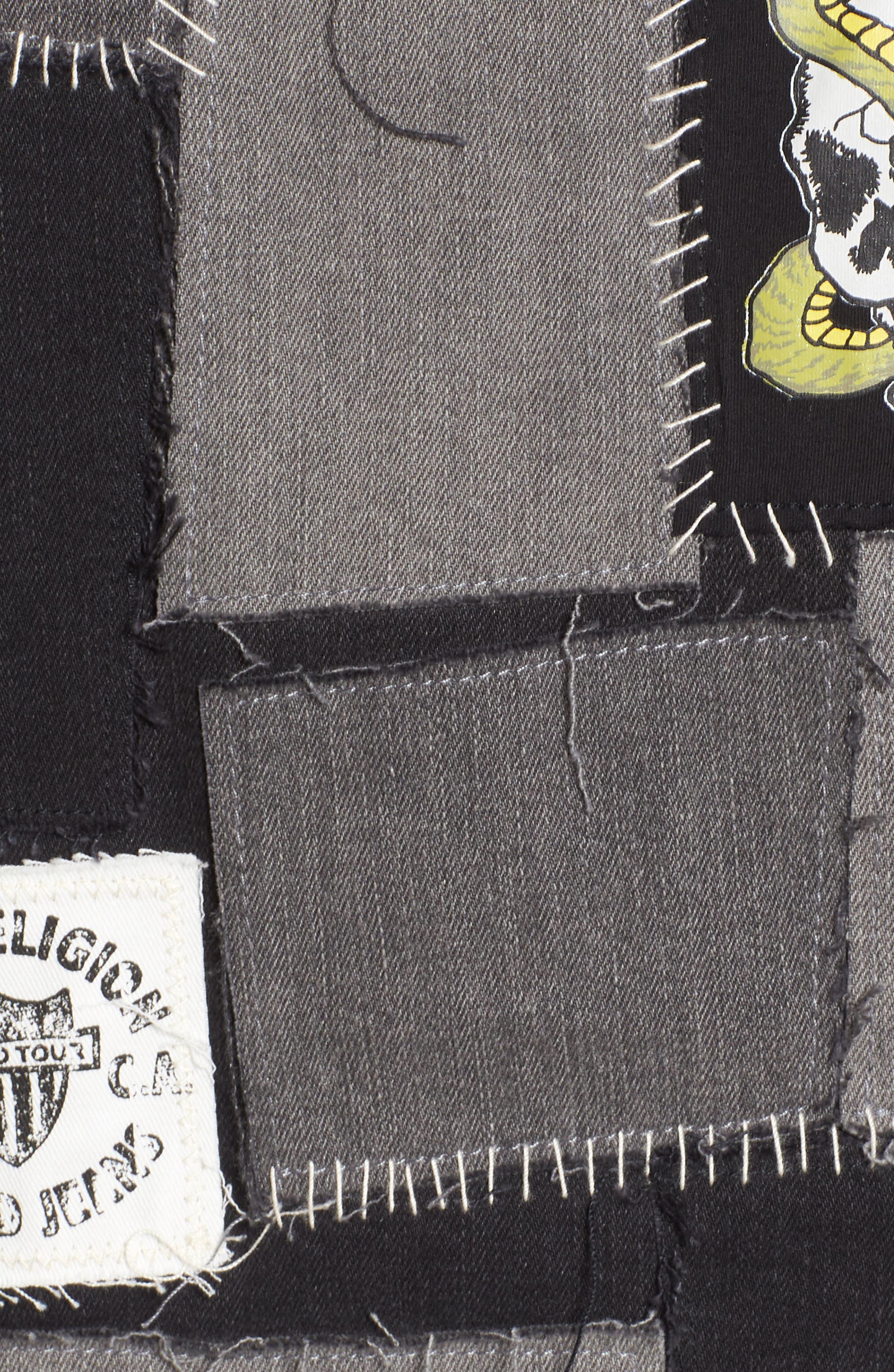 Jimmy Mended Backstage Denim Jacket,                             Alternate thumbnail 5, color,                             Mended Backstage