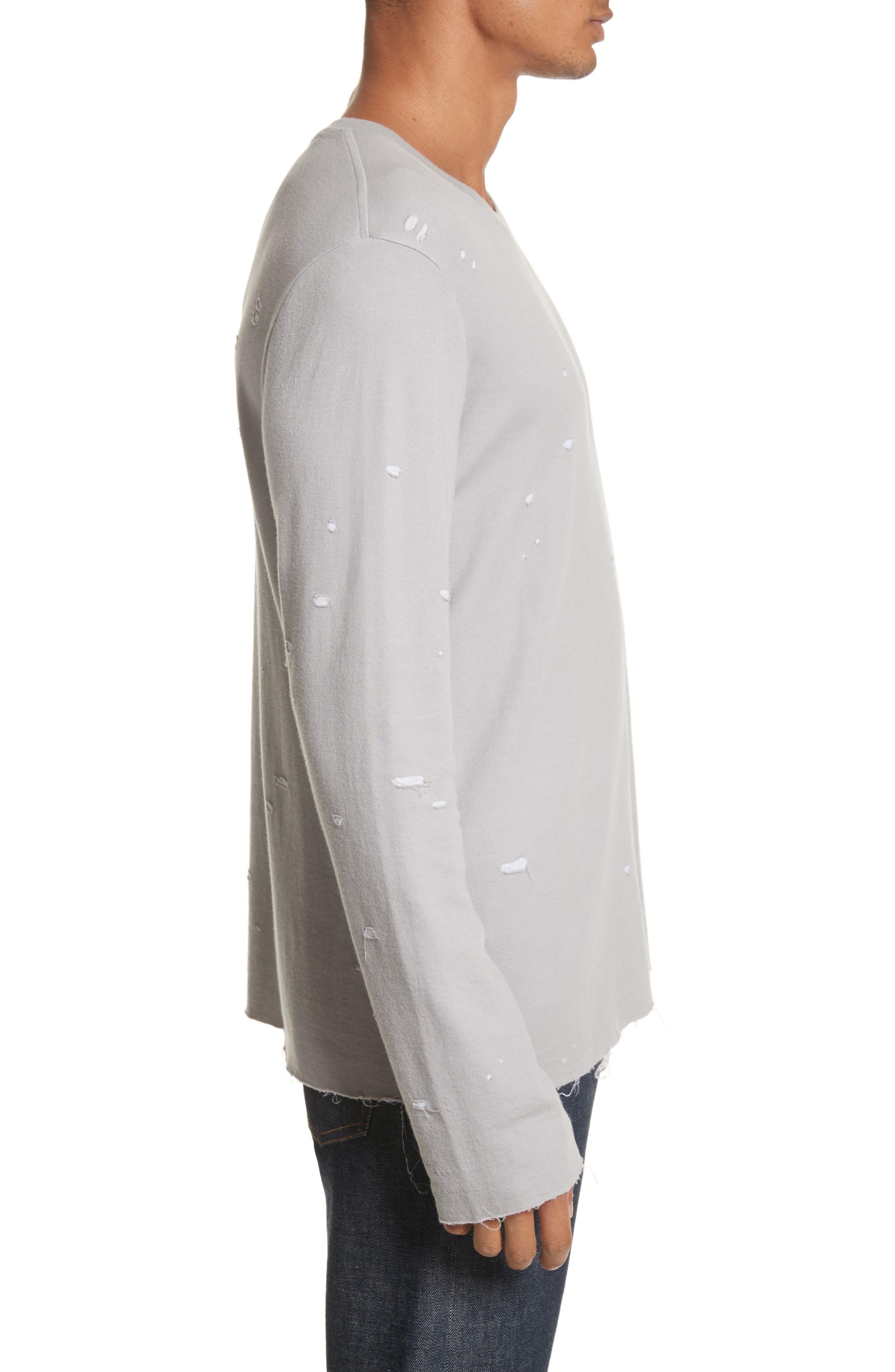 Long Sleeve T-Shirt,                             Alternate thumbnail 3, color,                             Grey