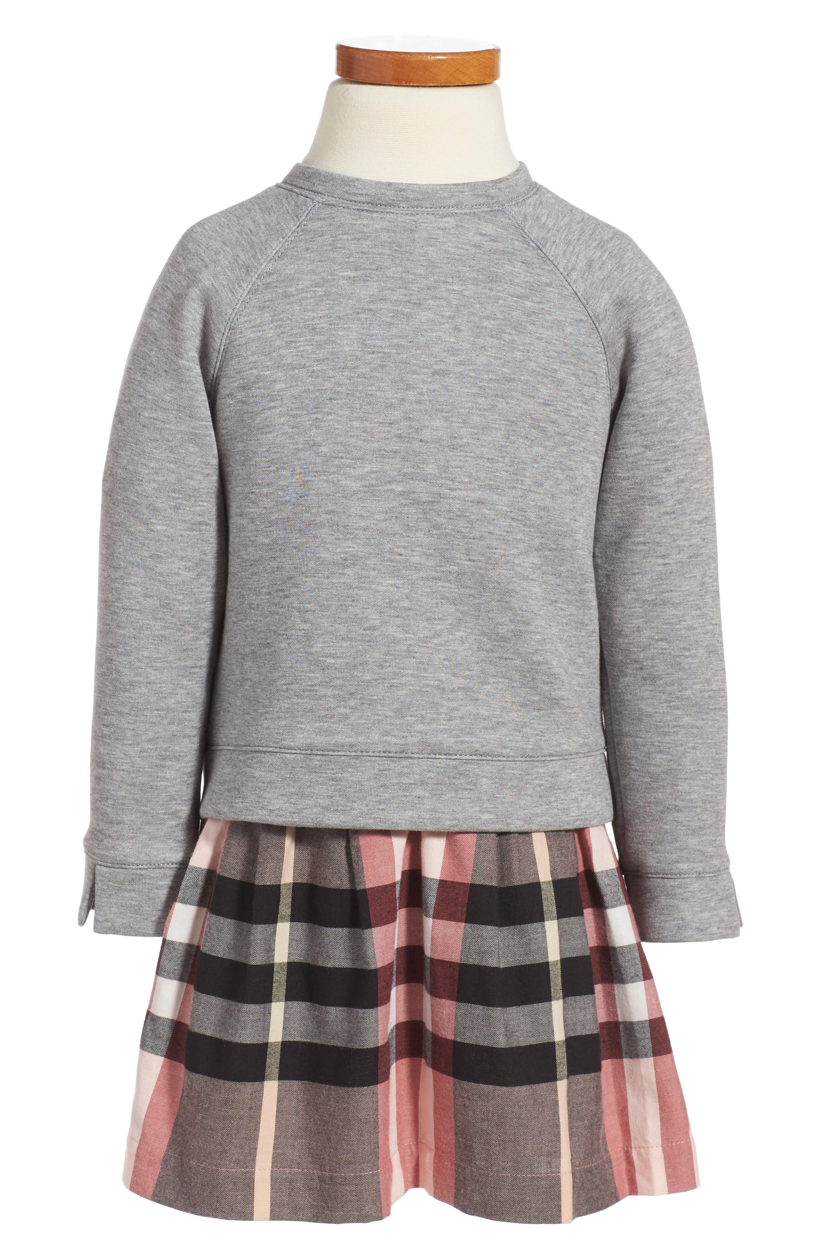 Burberry Mini Francine Sweatshirt Dress (Toddler Girls)