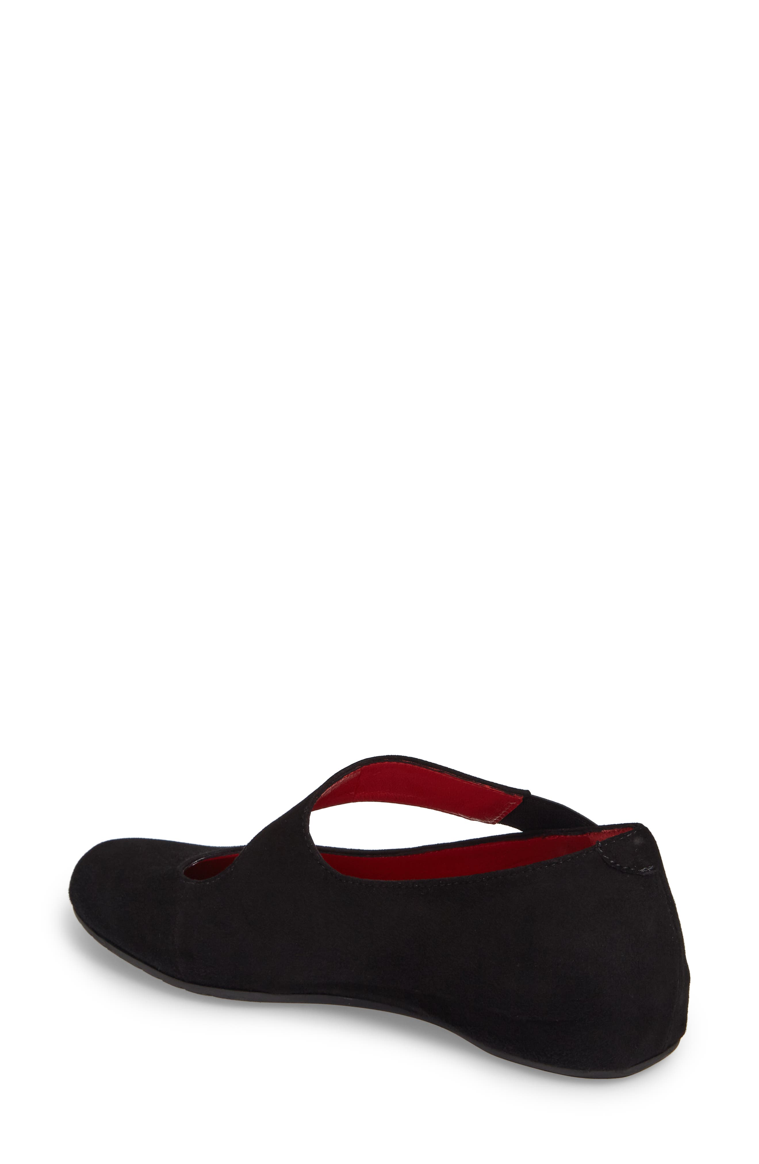 Ramona Flat,                             Alternate thumbnail 2, color,                             Black Suede