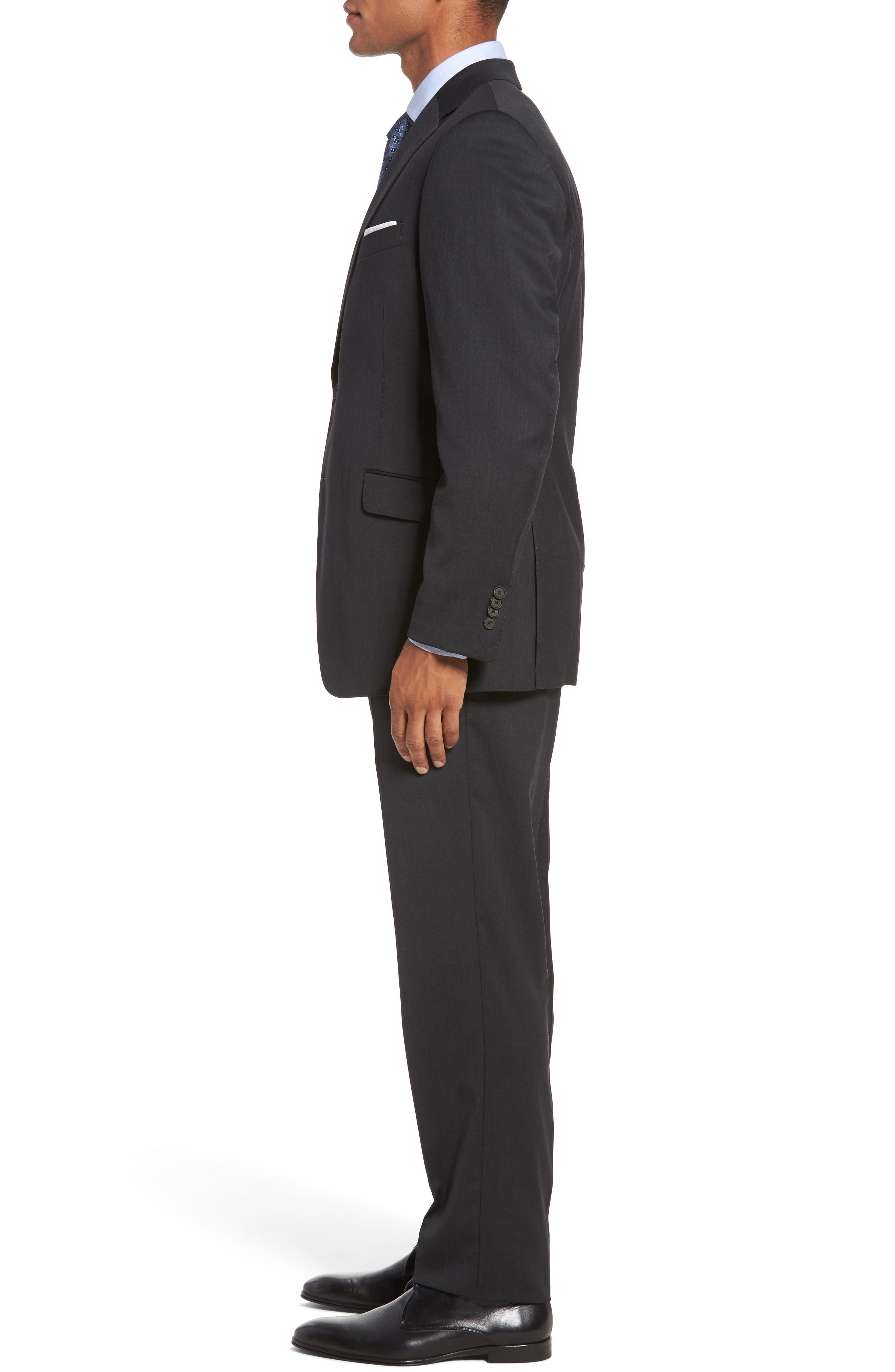 Keidis Aim Classic Fit Stretch Wool Suit,                             Alternate thumbnail 3, color,                             Charcoal