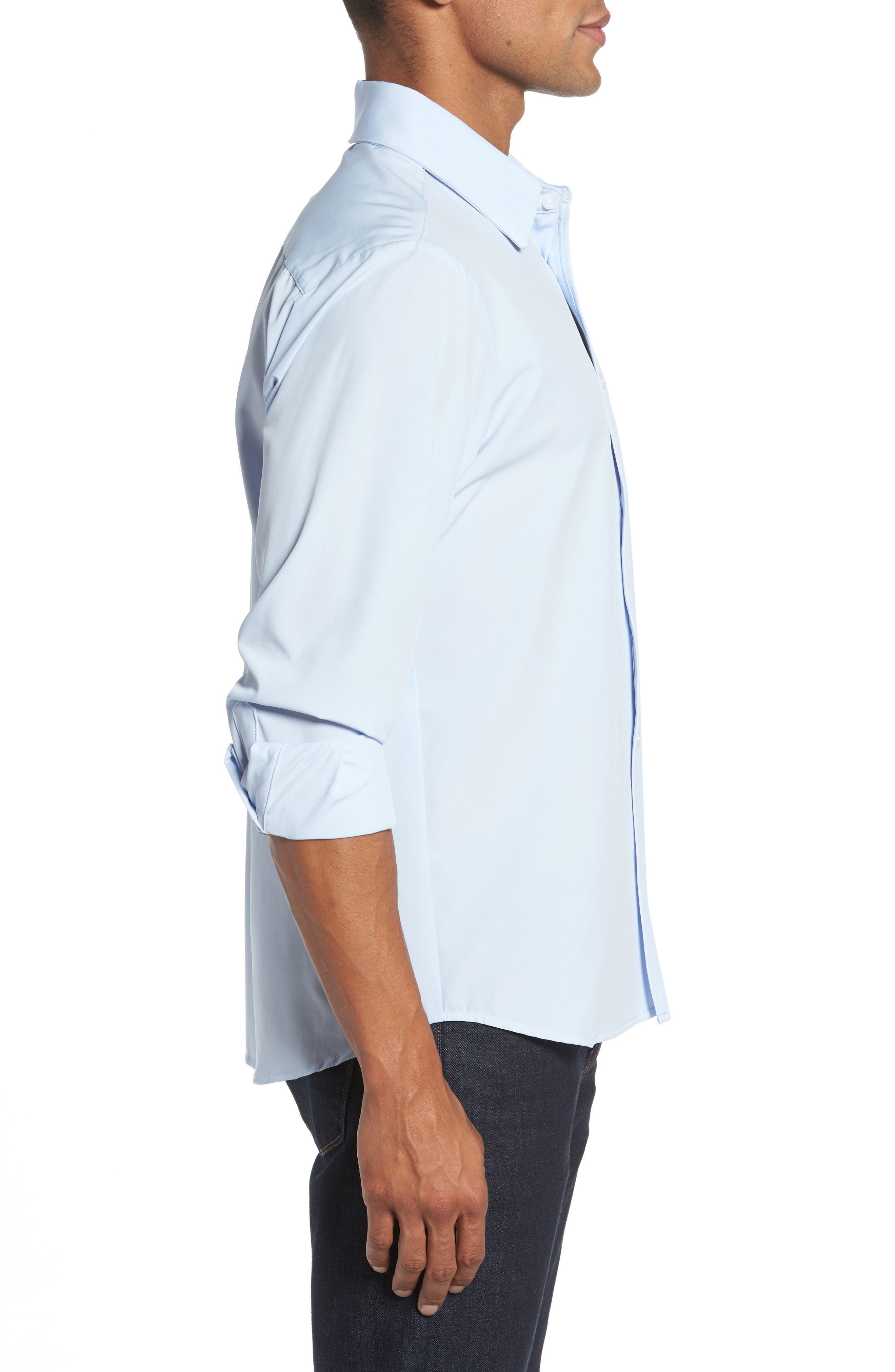 Blue Label Nelson Slim Fit Sport Shirt,                             Alternate thumbnail 4, color,                             Blue