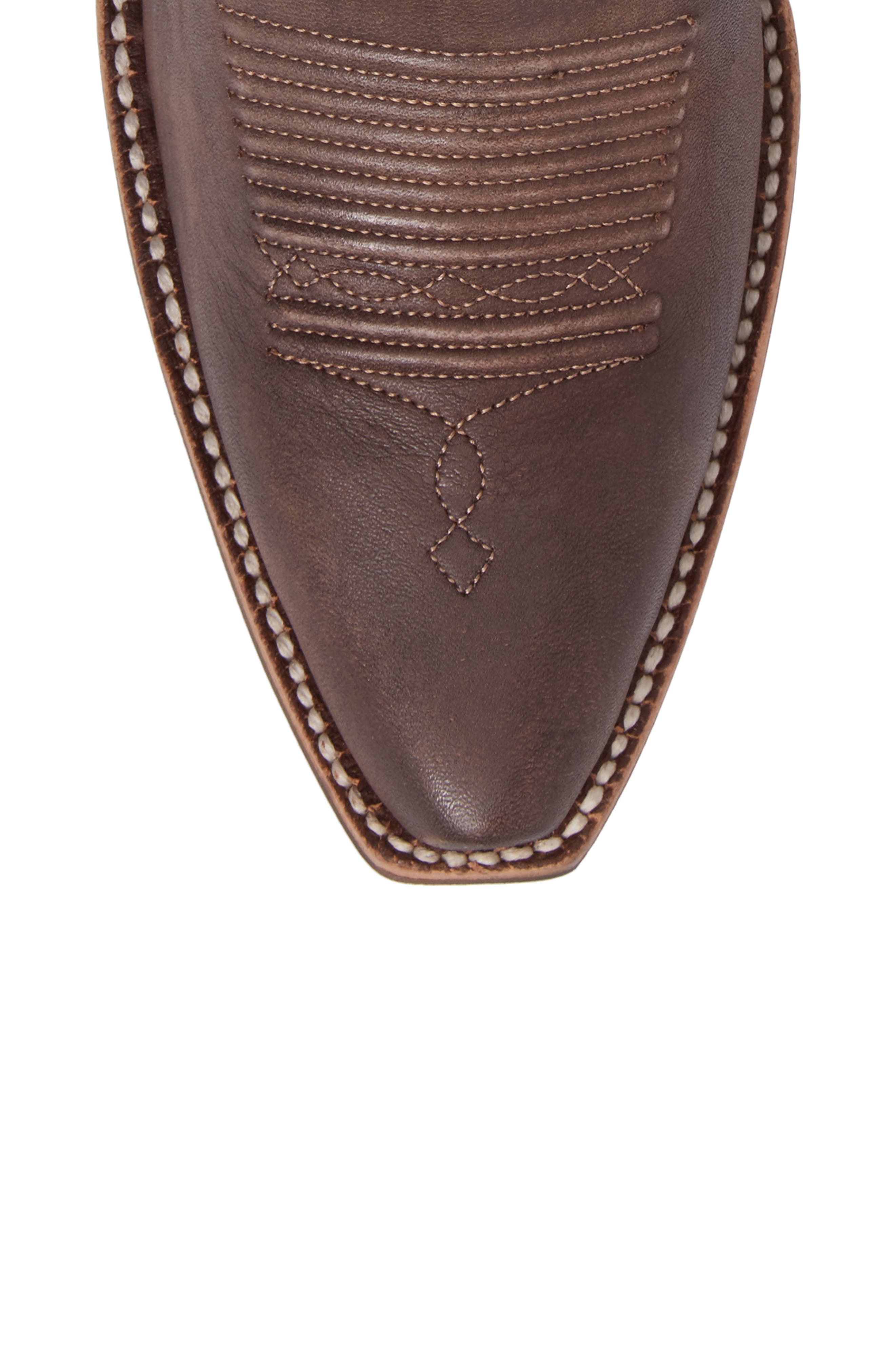 Heritage Southwestern X-Toe Boot,                             Alternate thumbnail 5, color,                             Tack Room Chocolate Leather