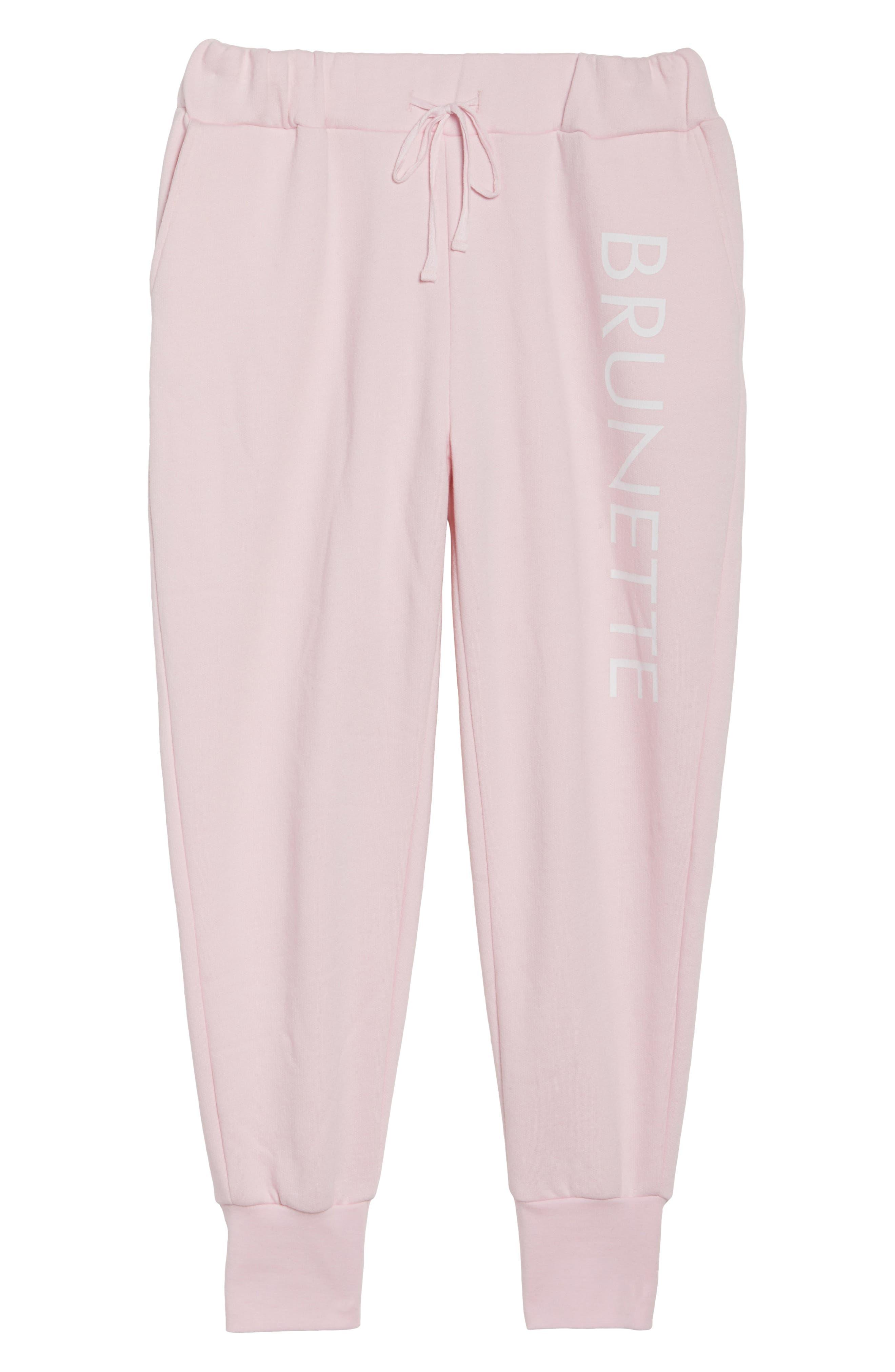 Brunette Jogger Pants,                             Alternate thumbnail 4, color,                             Pink