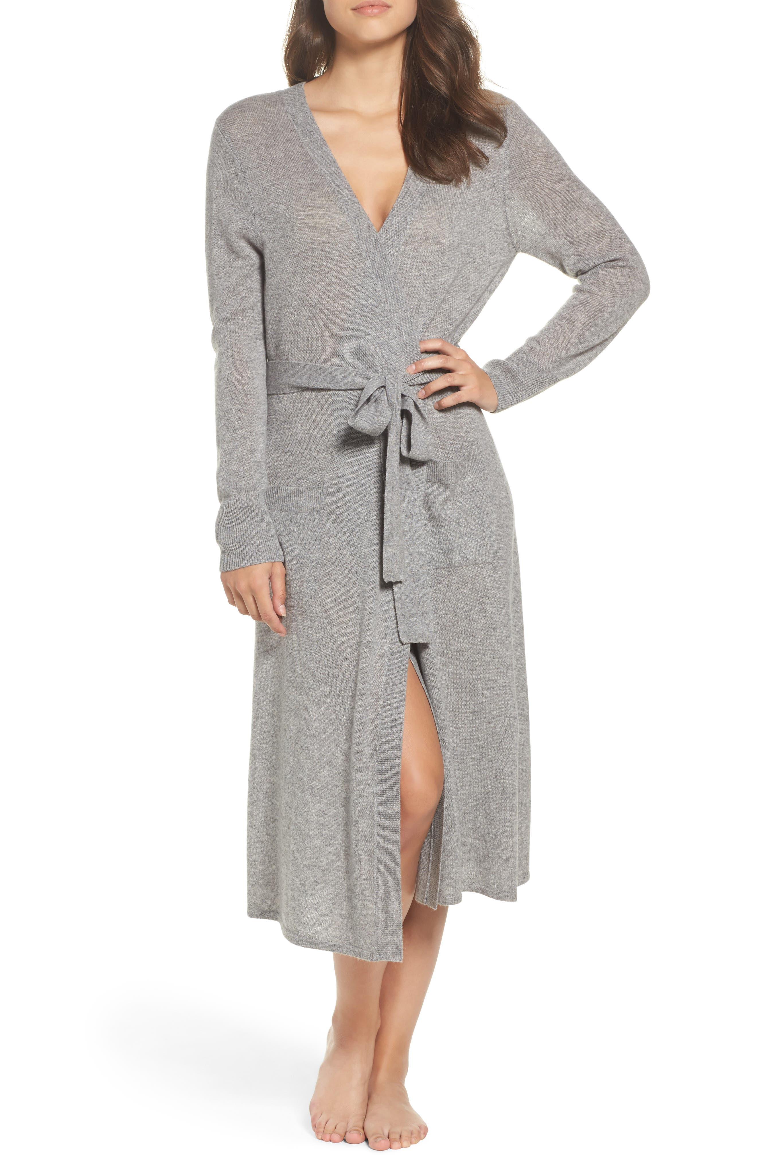 Nordstrom Lingerie Cashmere Robe