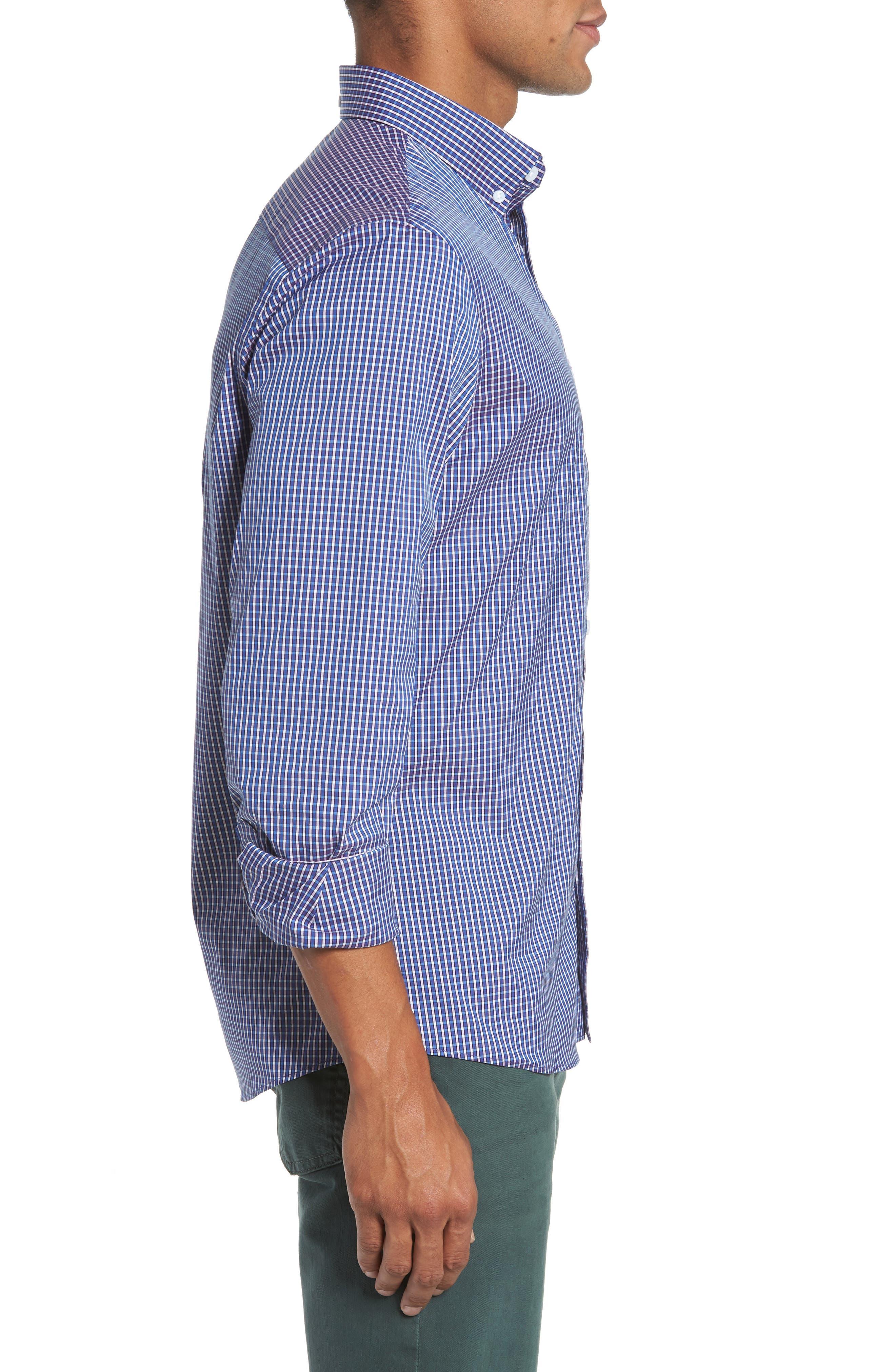 Alternate Image 3  - Nordstrom Men's Shop Tech-Smart Trim Fit Check Sport Shirt