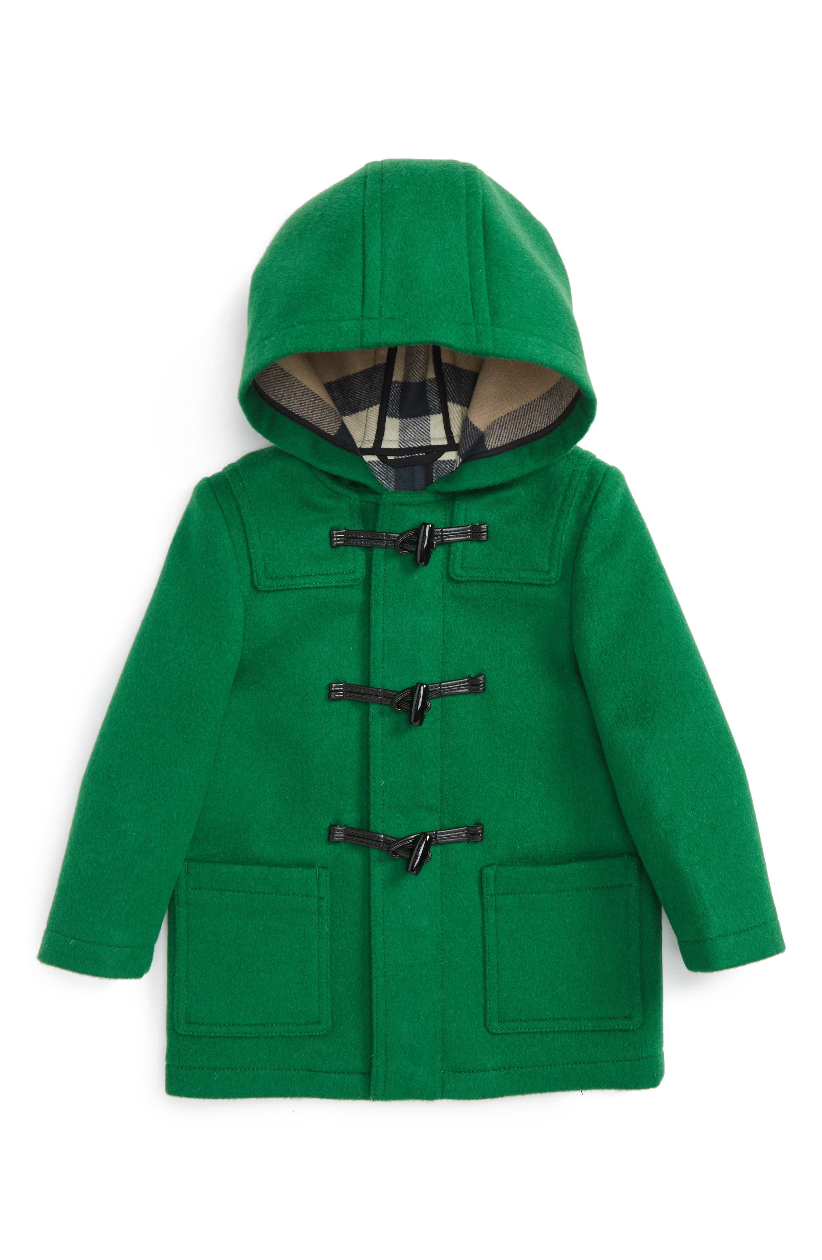 Brogan Hooded Wool Jacket,                         Main,                         color, Pigment Green