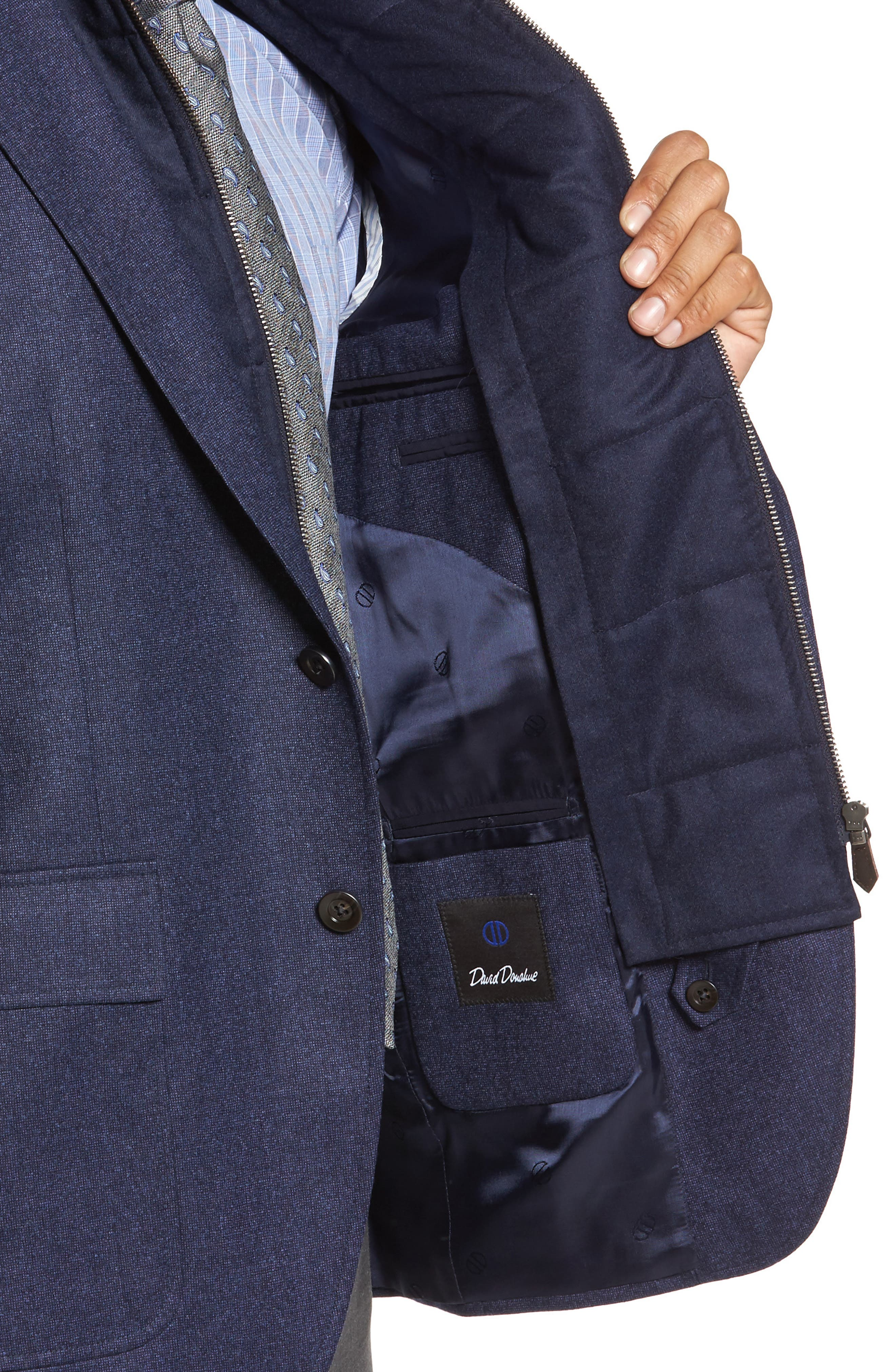 Aaron Classic Fit Wool Blazer,                             Alternate thumbnail 4, color,                             Navy