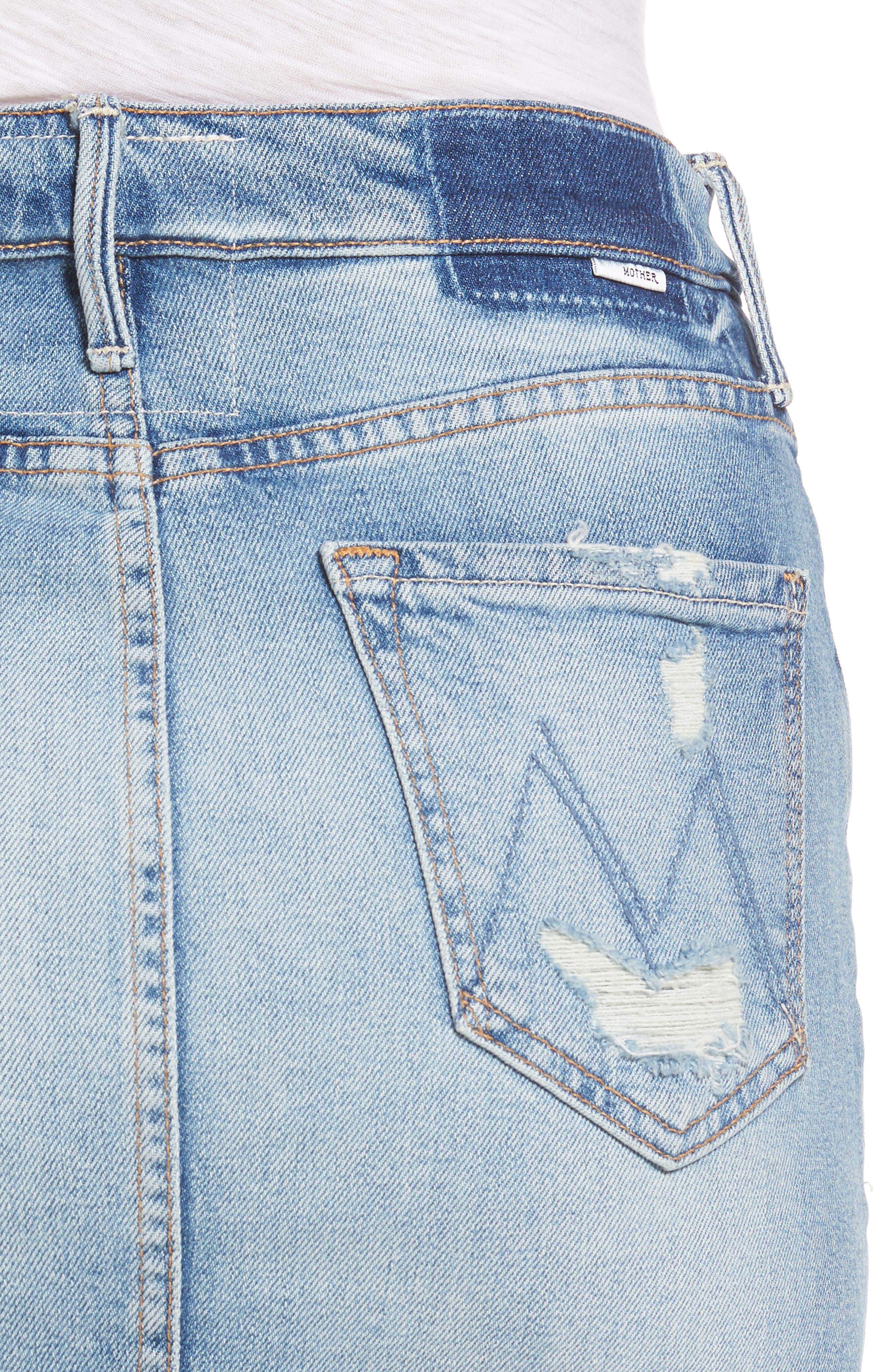 Alternate Image 4  - MOTHER The Sacred Slit Denim Miniskirt
